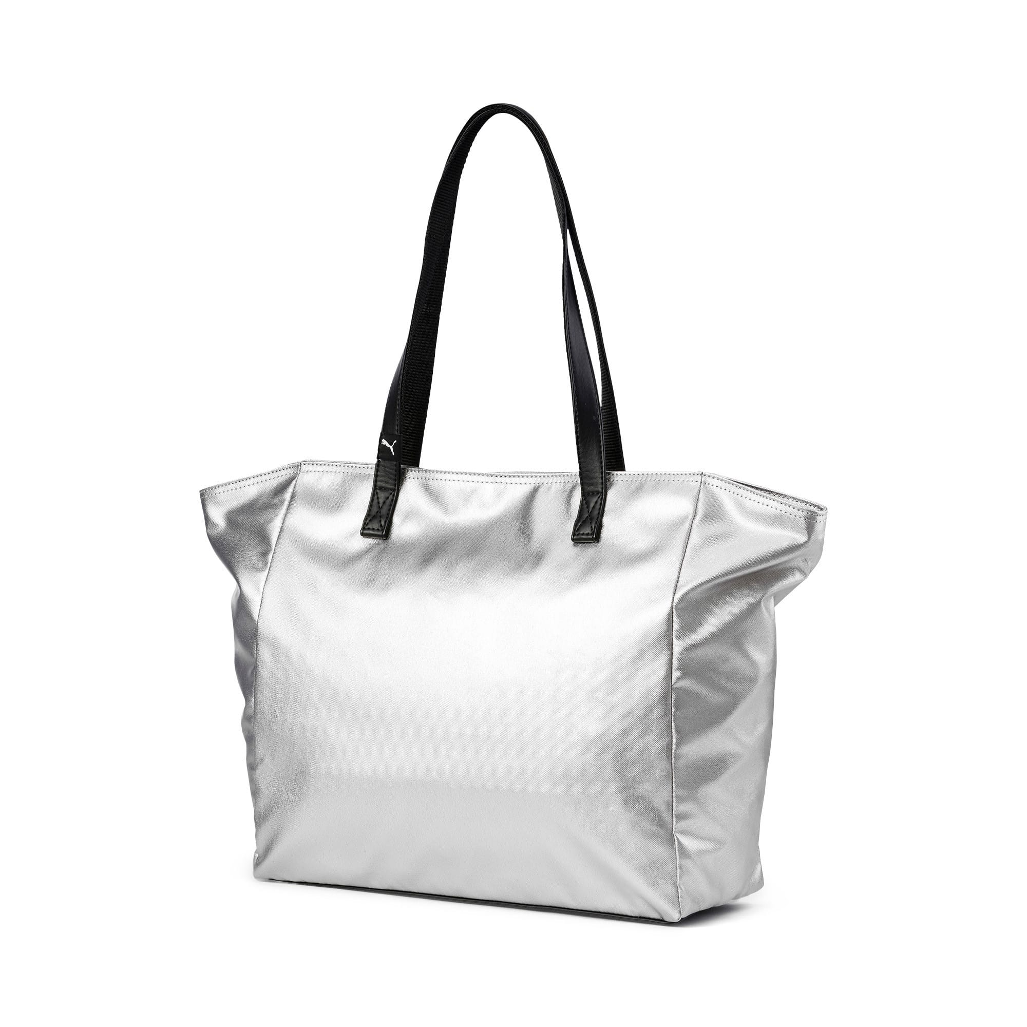 Thumbnail 3 of Time Women's Large Shopper, Silver-Puma Black, medium-IND