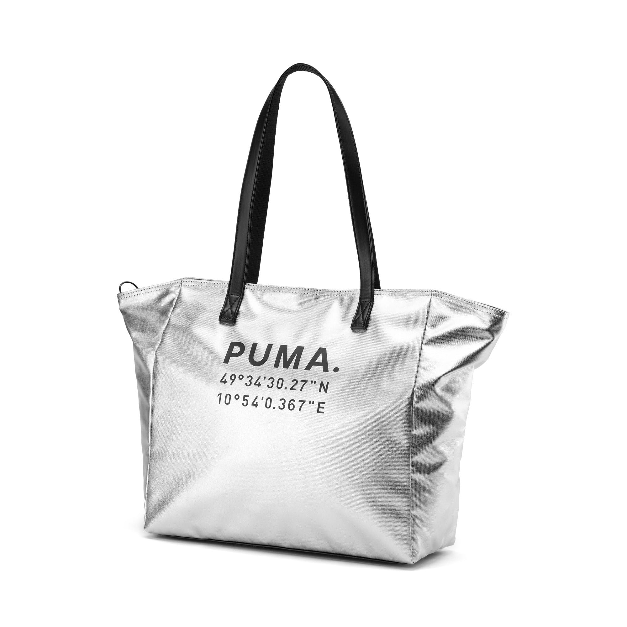 Thumbnail 1 of Time Women's Large Shopper, Silver-Puma Black, medium-IND