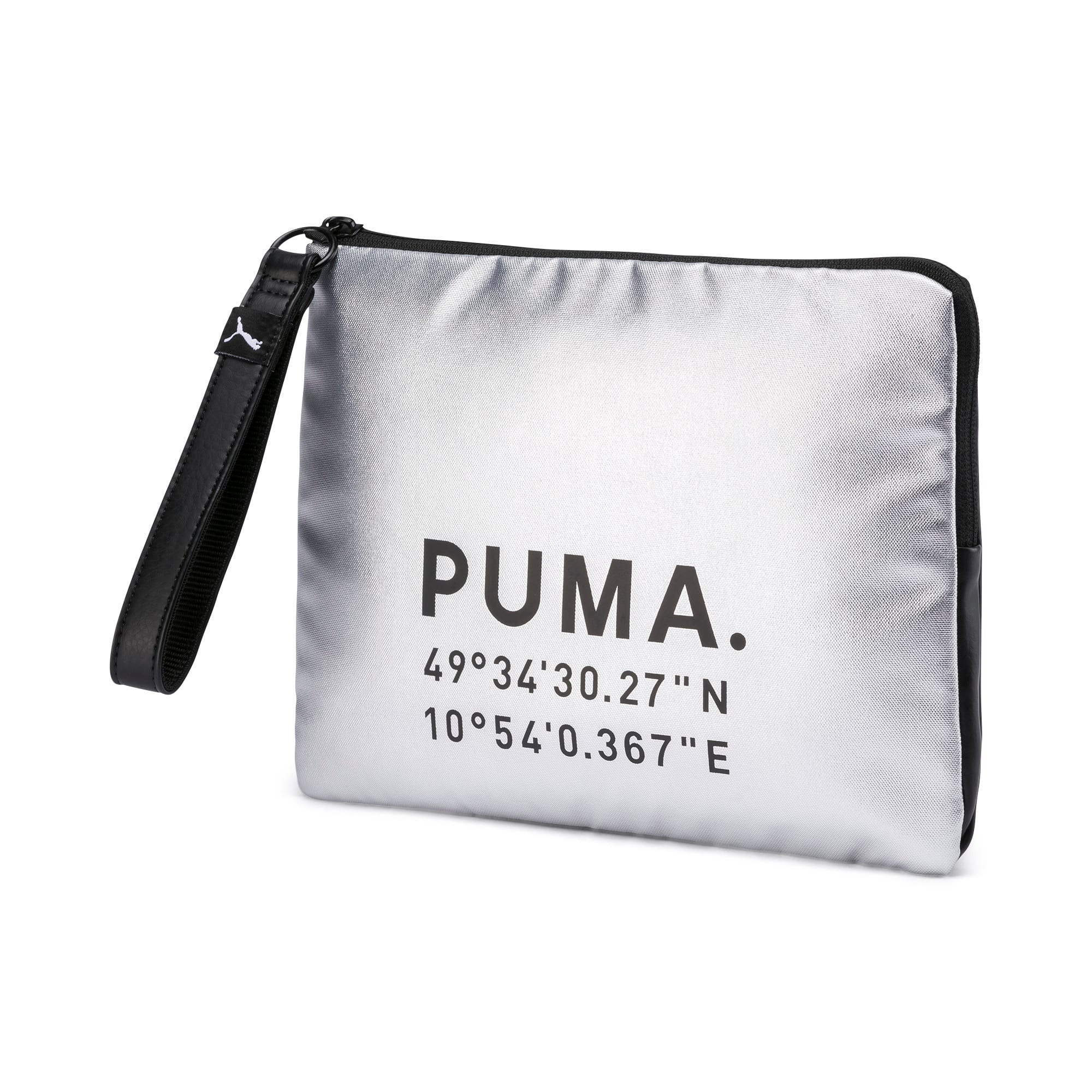 Thumbnail 1 of Time Women's Pouch, Silver-Puma Black, medium-IND