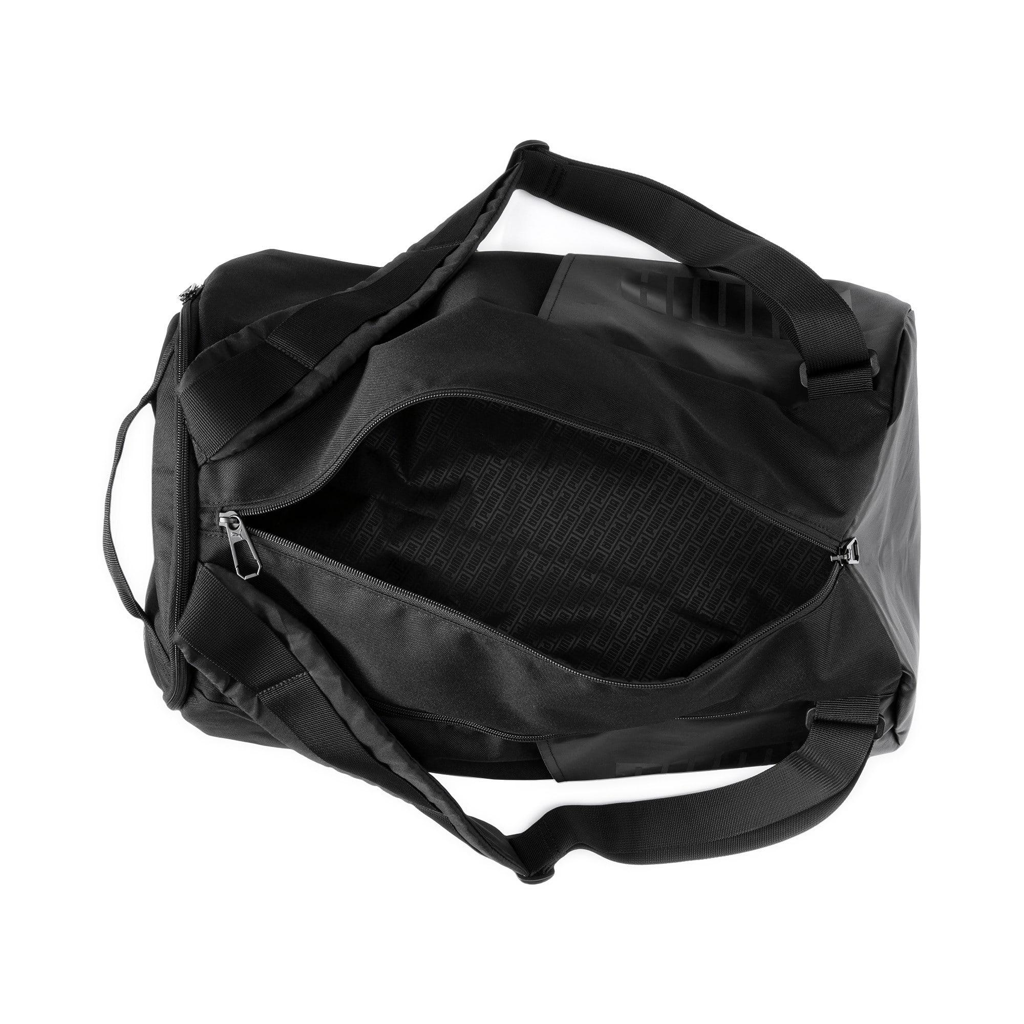 Thumbnail 6 of Training Transform Duffle Bag, Puma Black, medium-IND