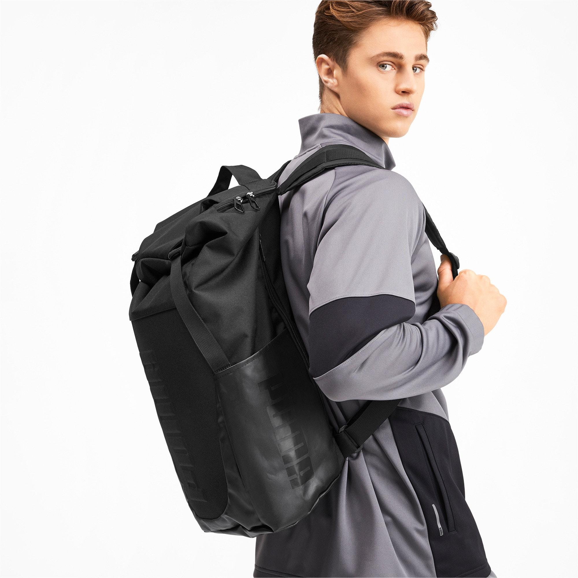 Thumbnail 2 of Training Transform Duffle Bag, Puma Black, medium-IND