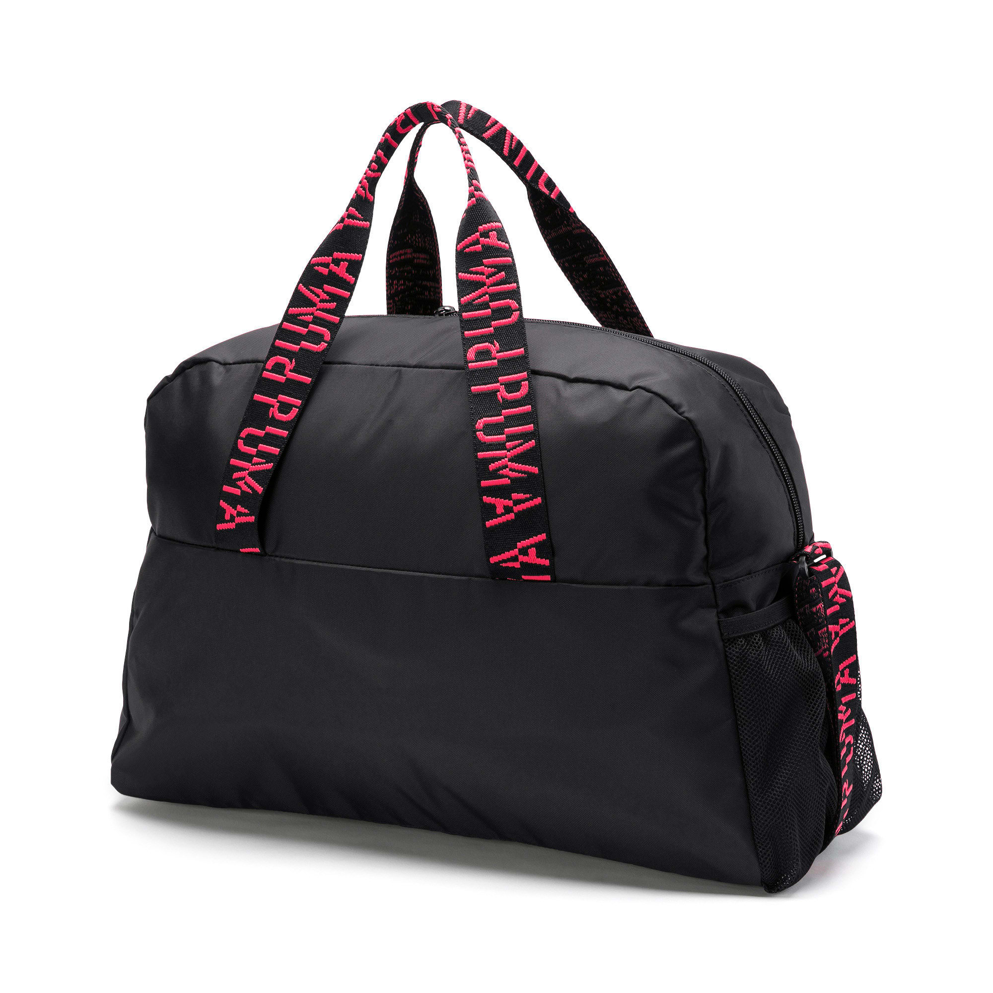 Thumbnail 3 of Active Training Essential Women's Grip Bag, Puma Black-Pink Alert-AOP, medium-IND