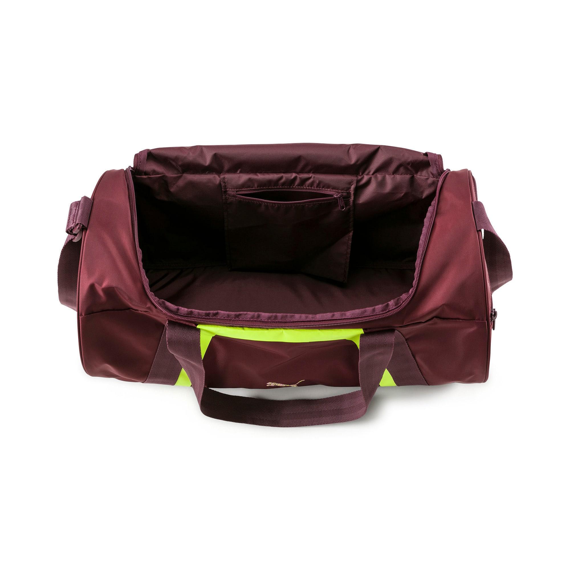 Thumbnail 4 of Active Training Shift Women's Duffel Bag, Vineyard Wine-Yellow Alert, medium-IND