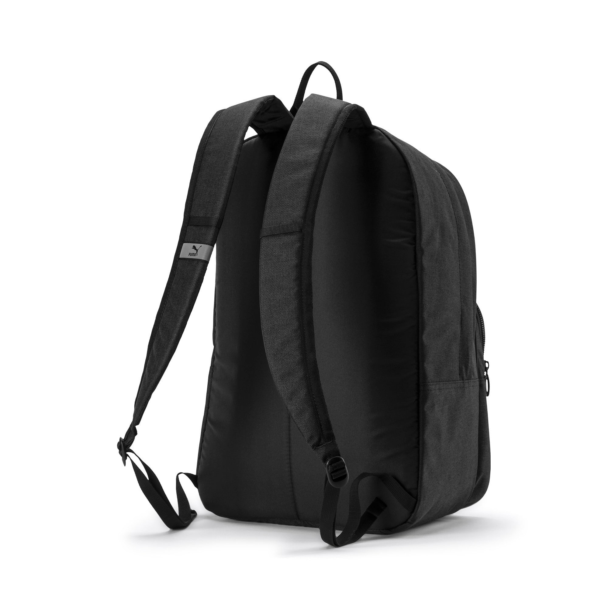 Thumbnail 3 of Originals Retro Woven Backpack, Puma Black, medium