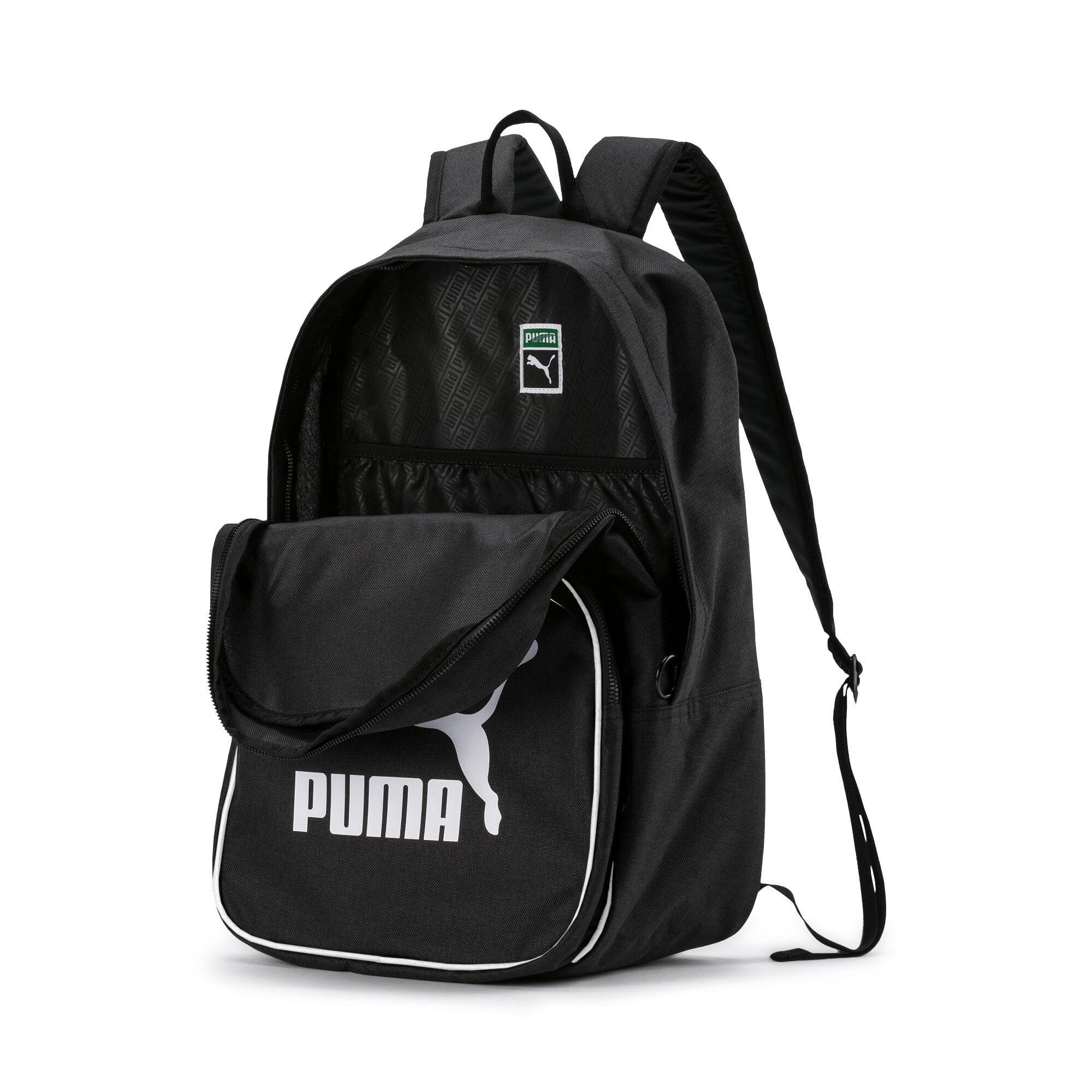 Thumbnail 4 of Originals Retro Woven Backpack, Puma Black, medium