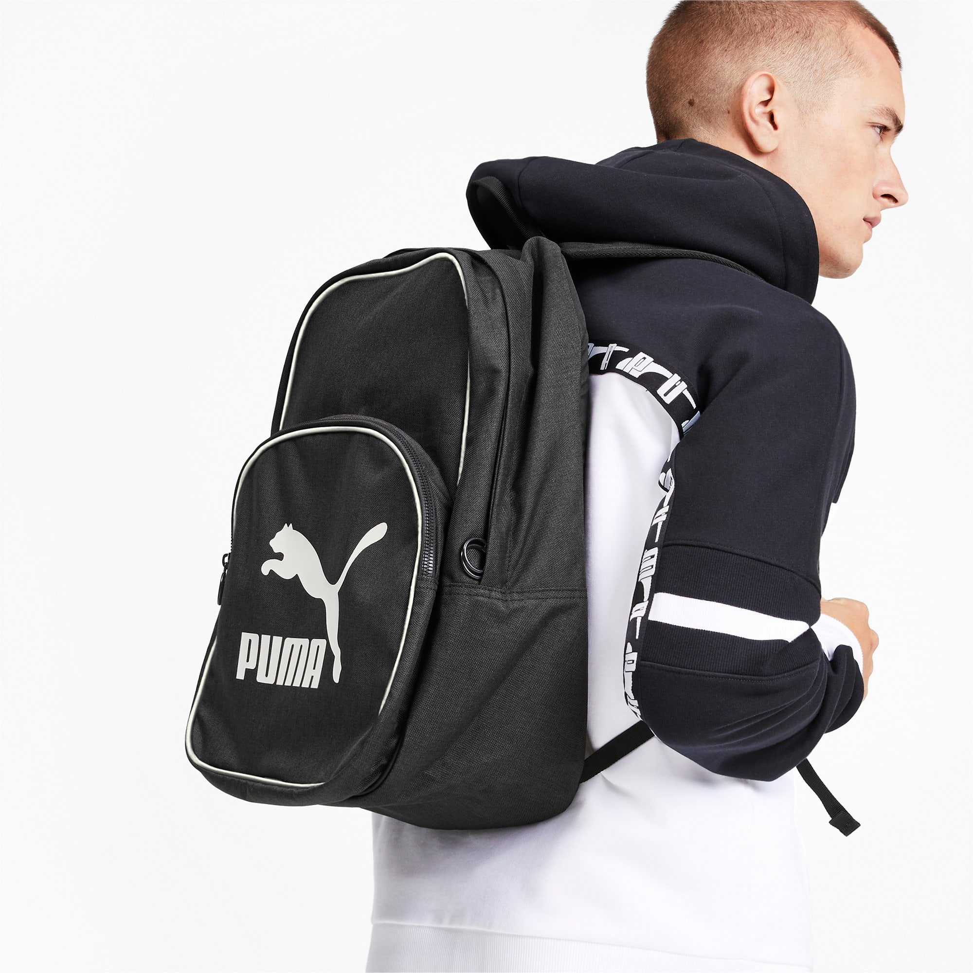 Thumbnail 2 of Originals Retro Woven Backpack, Puma Black, medium