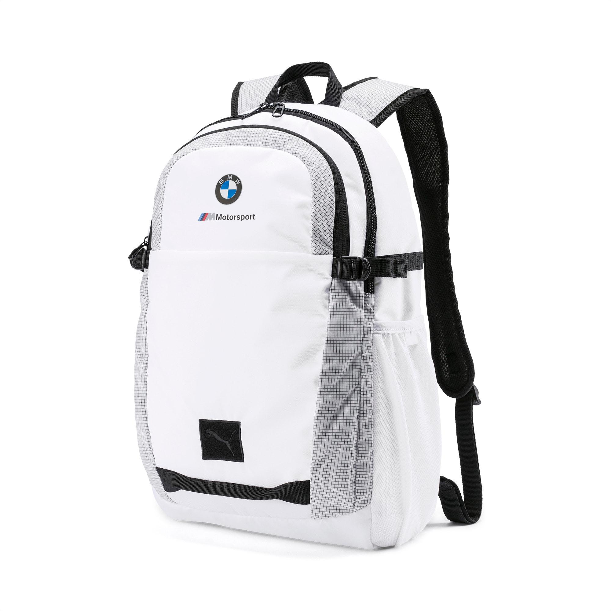 BMW M Motorsport Backpack, Puma White, large-SEA