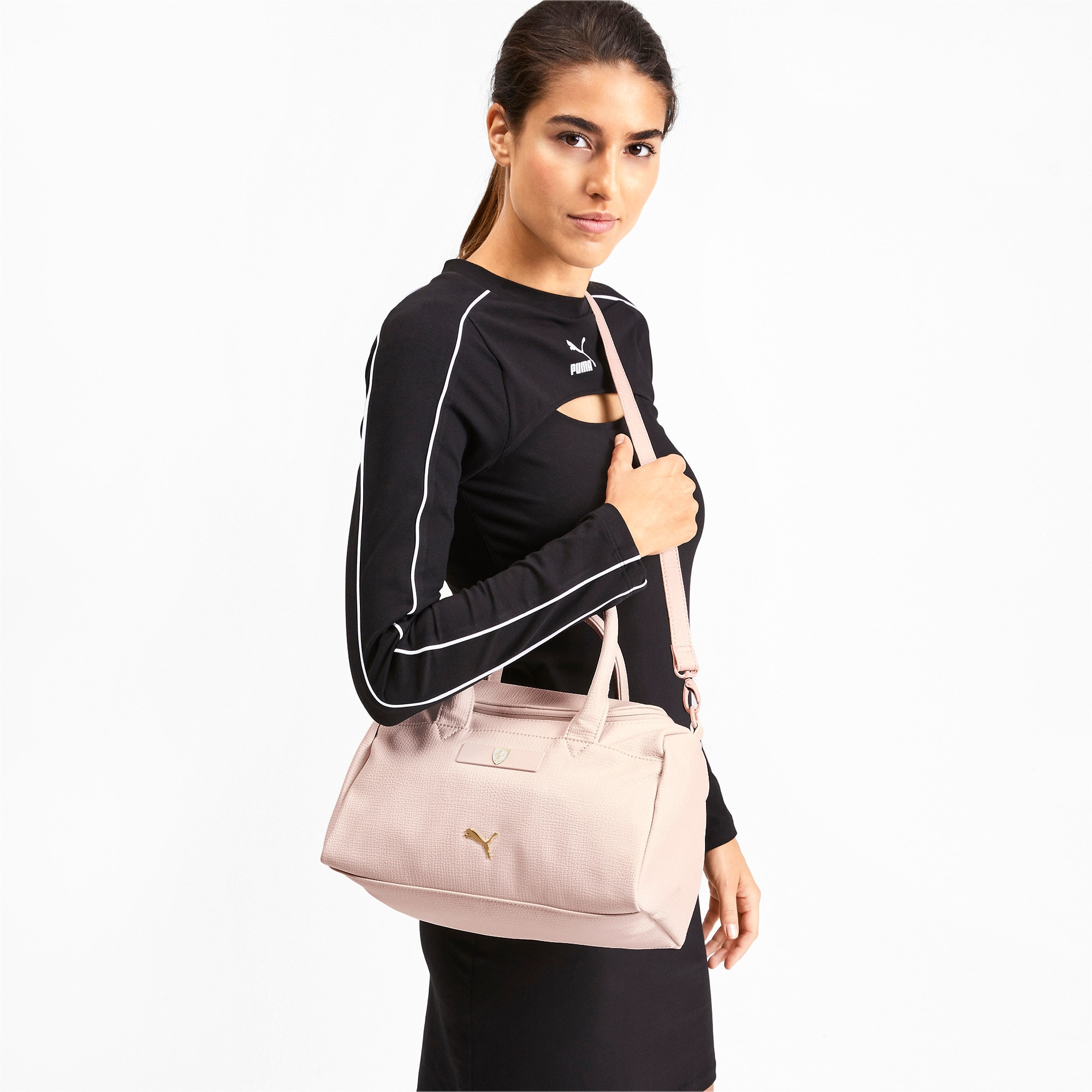 Thumbnail 2 of Ferrari Lifestyle Women's Handbag, Pastel Parchment, medium-IND