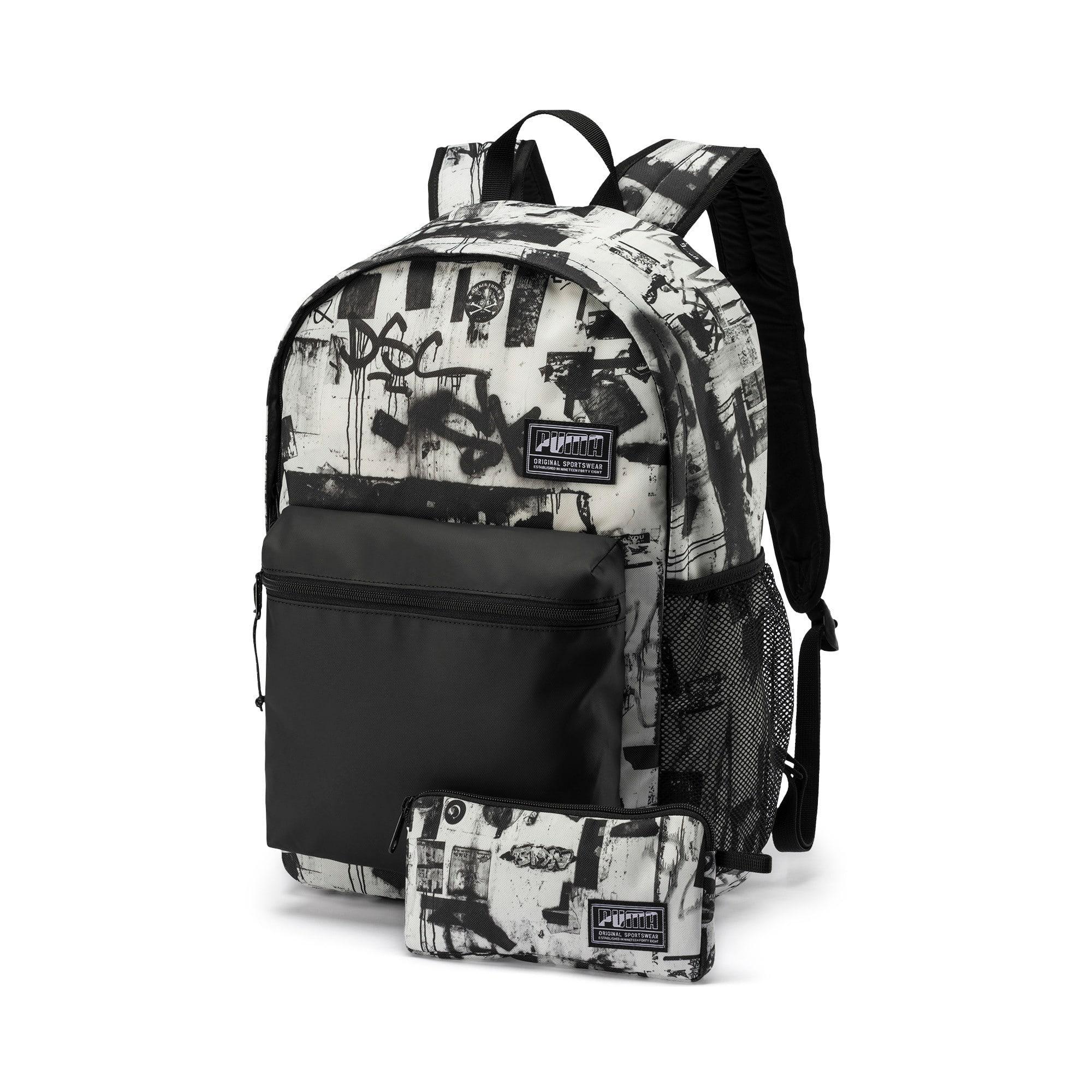 Thumbnail 1 of PUMA Academy Backpack Set, Puma White-Street AOP, medium