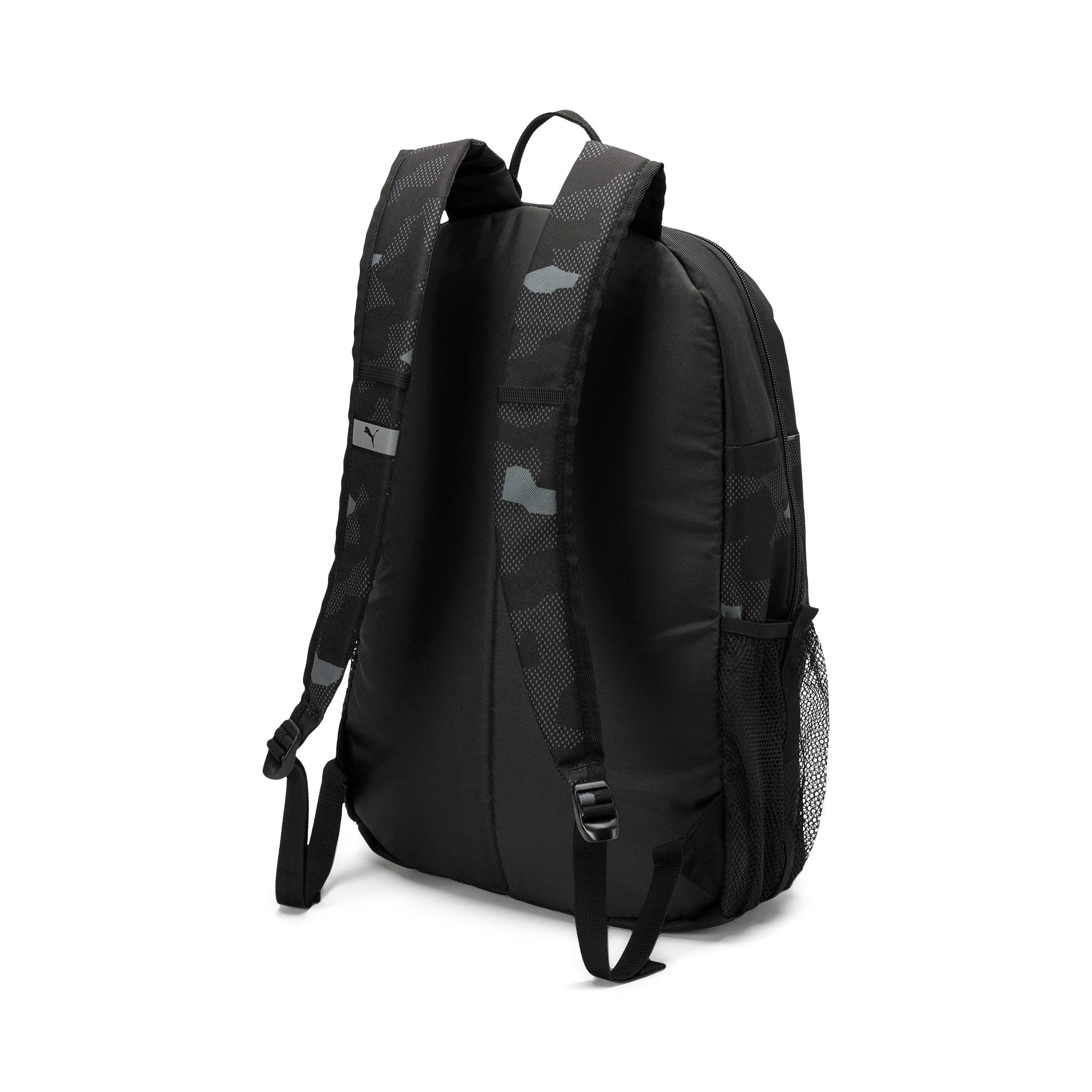 Thumbnail 2 of PUMA Style Backpack, Puma Black-Camo AOP, medium