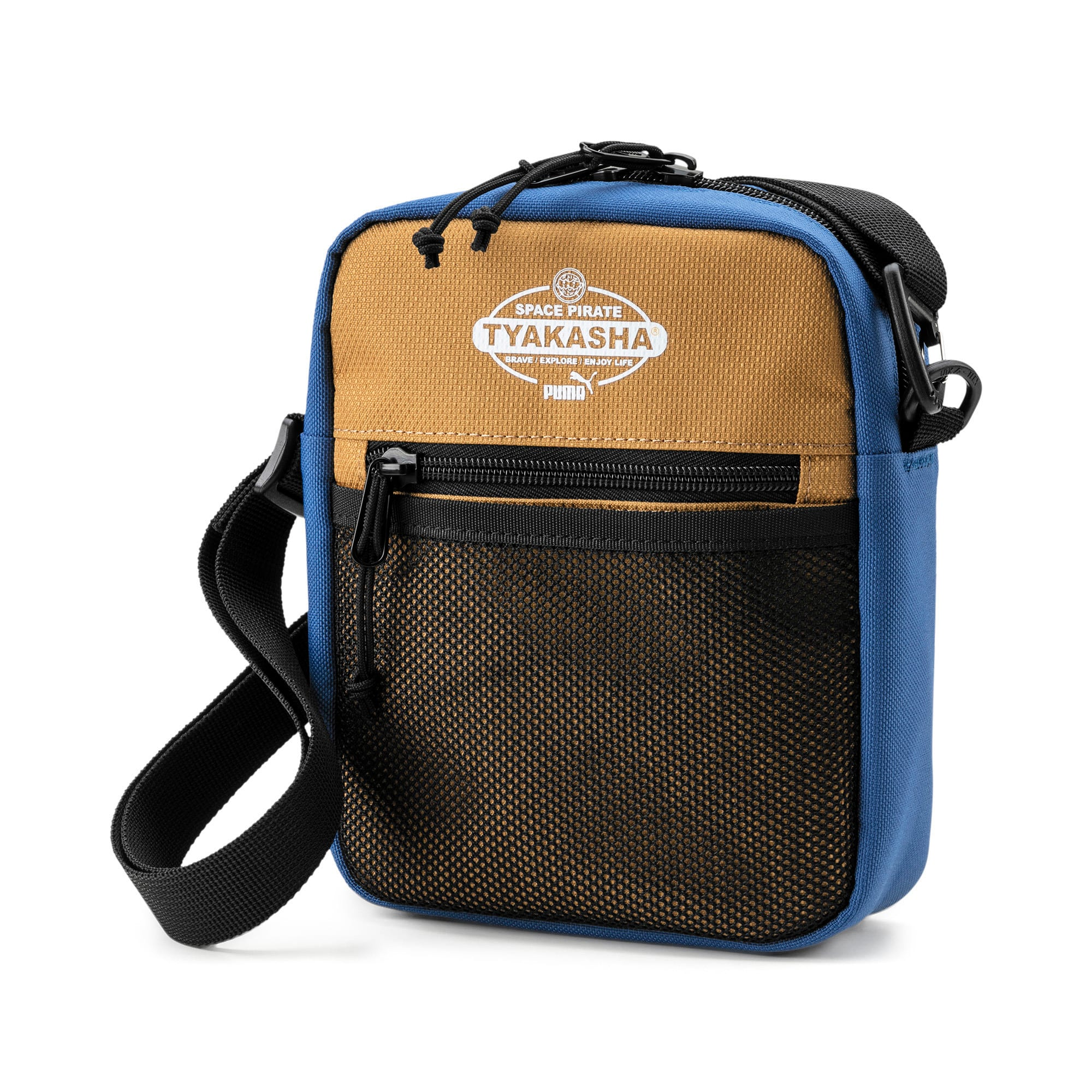 Thumbnail 1 of PUMA x TYAKASHA Crossbody Bag, G.Blue-F.Brick-B.Brown, medium