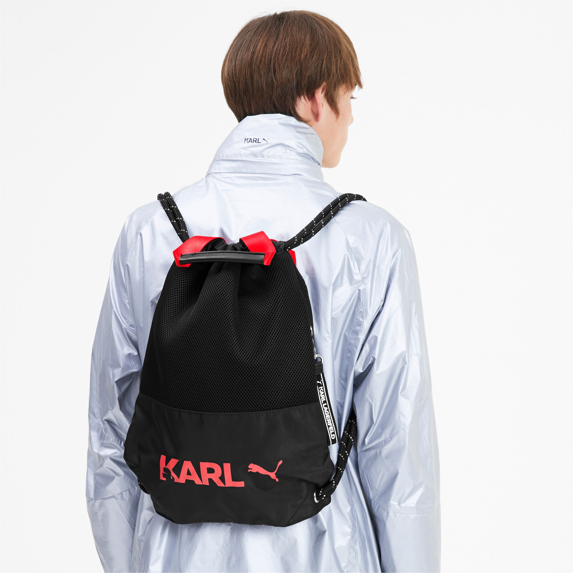Thumbnail 2 of PUMA x KARL LAGERFELD Backpack Tote, Puma Black, medium