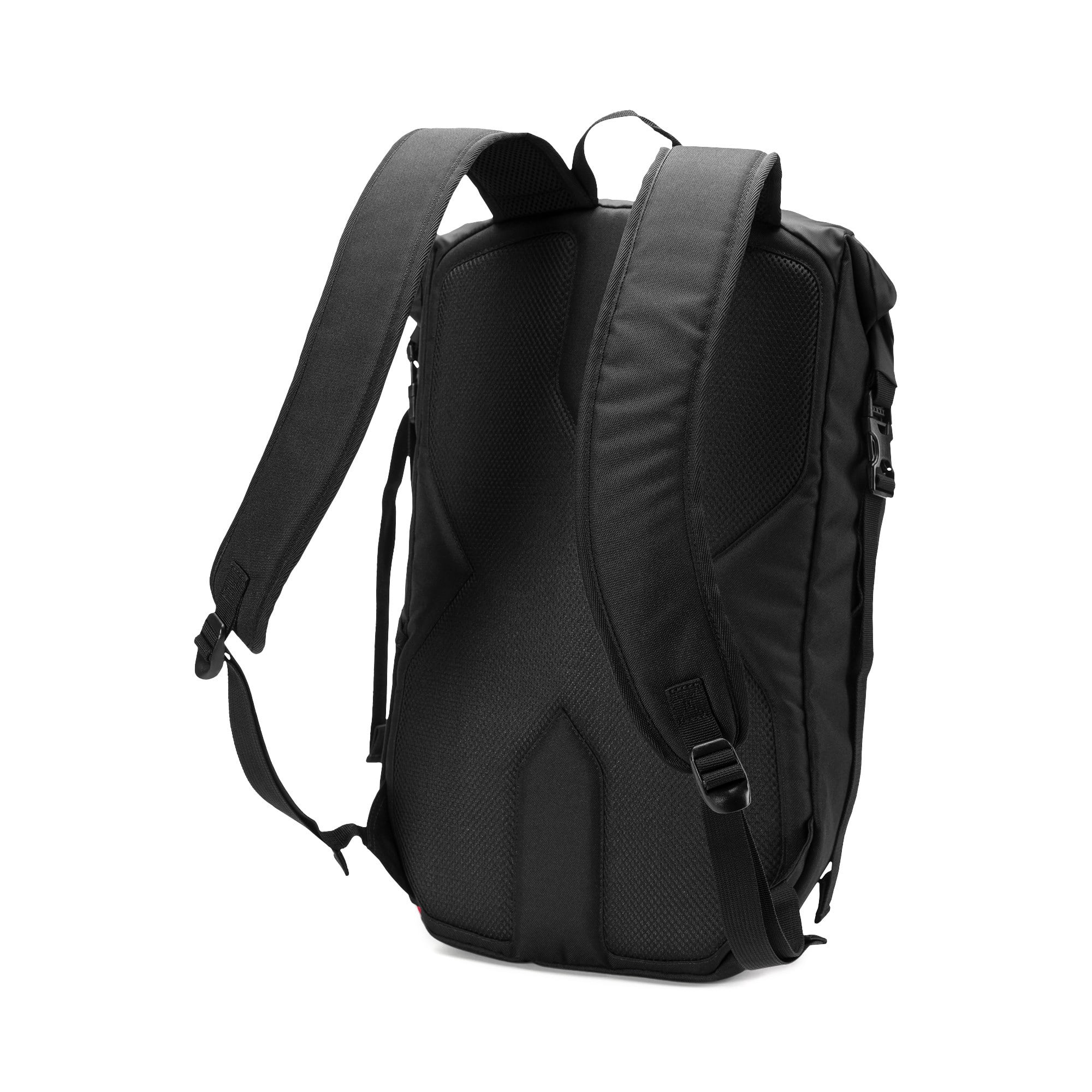 Thumbnail 2 of AC Milan Football Culture Rolltop Backpack, Puma Black-Tango Red, medium
