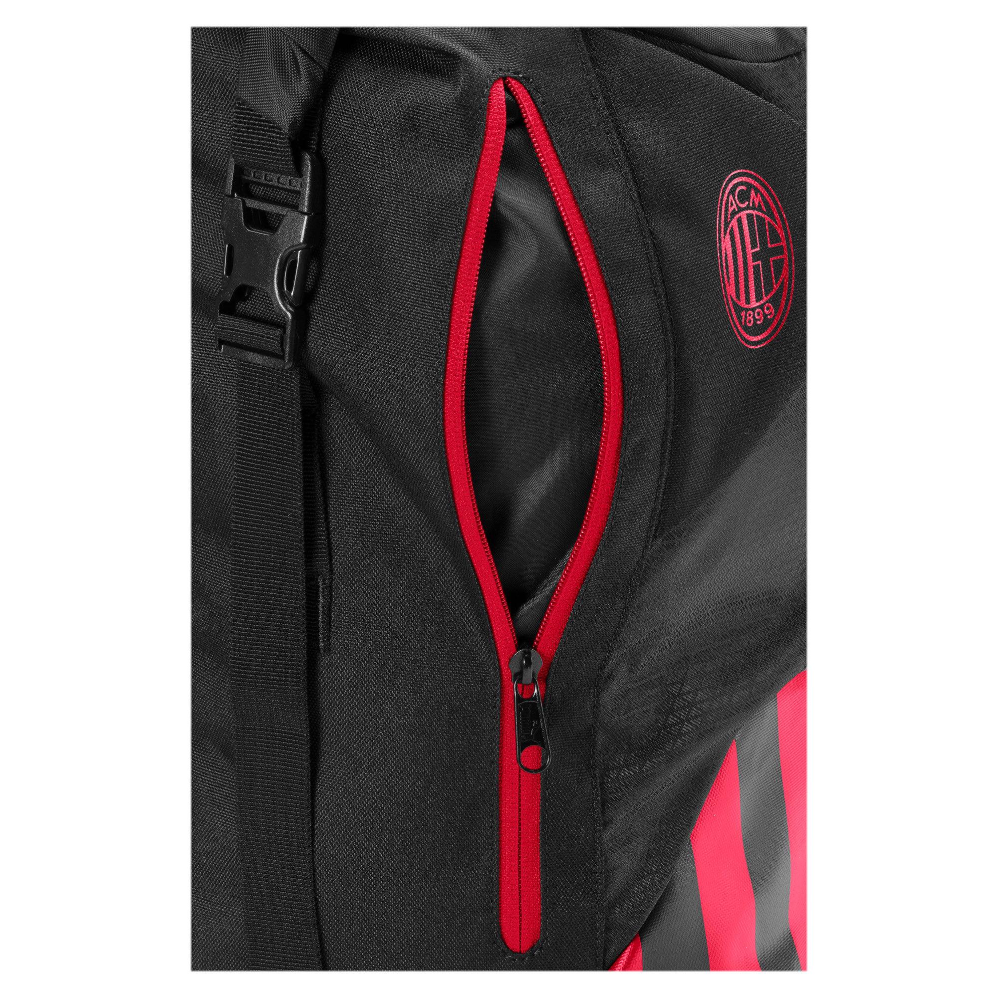 Thumbnail 3 of AC Milan Football Culture Rolltop Backpack, Puma Black-Tango Red, medium