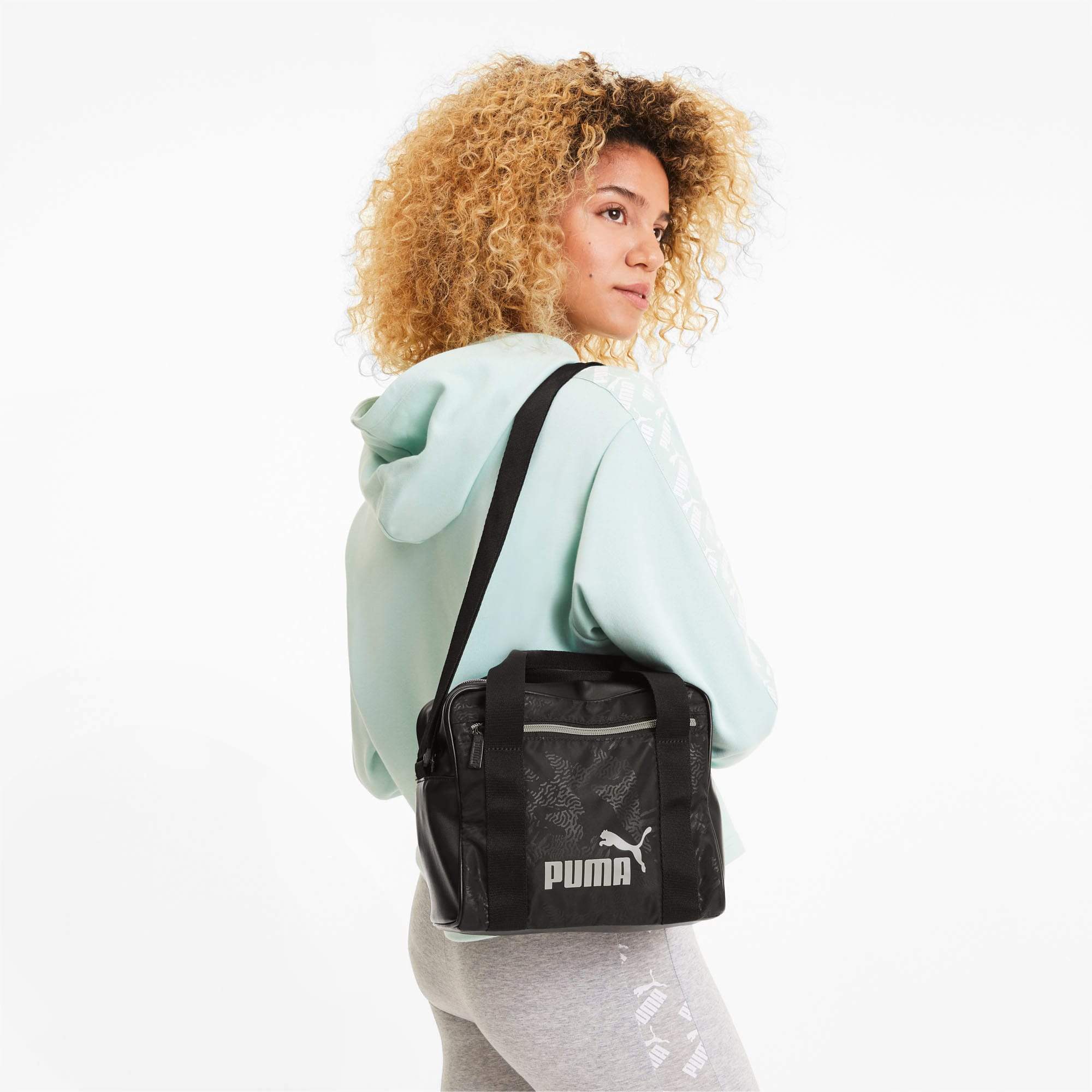Core Up Mini Women's Duffel Bag   Puma Black   PUMA Valentines Day