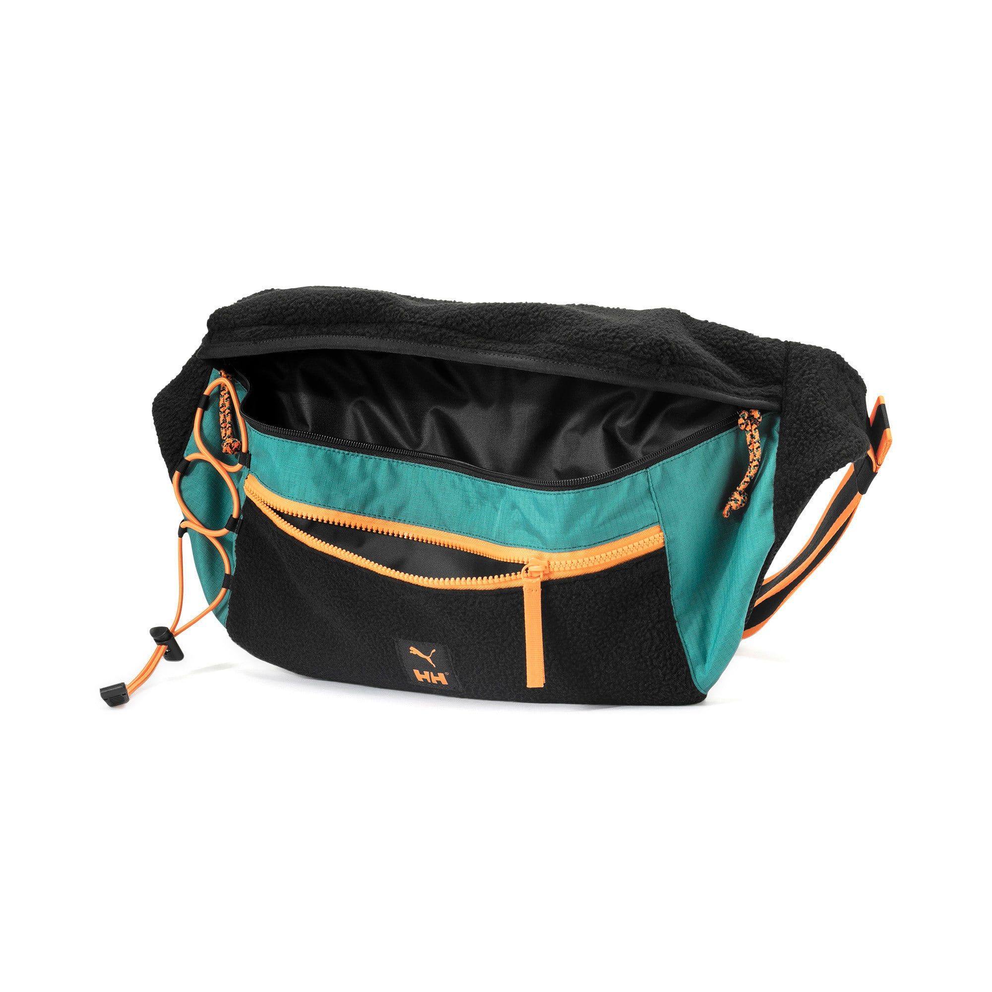 Thumbnail 3 of PUMA x HELLY HANSEN Oversized Gürteltasche, Puma Black-Teal Green, medium