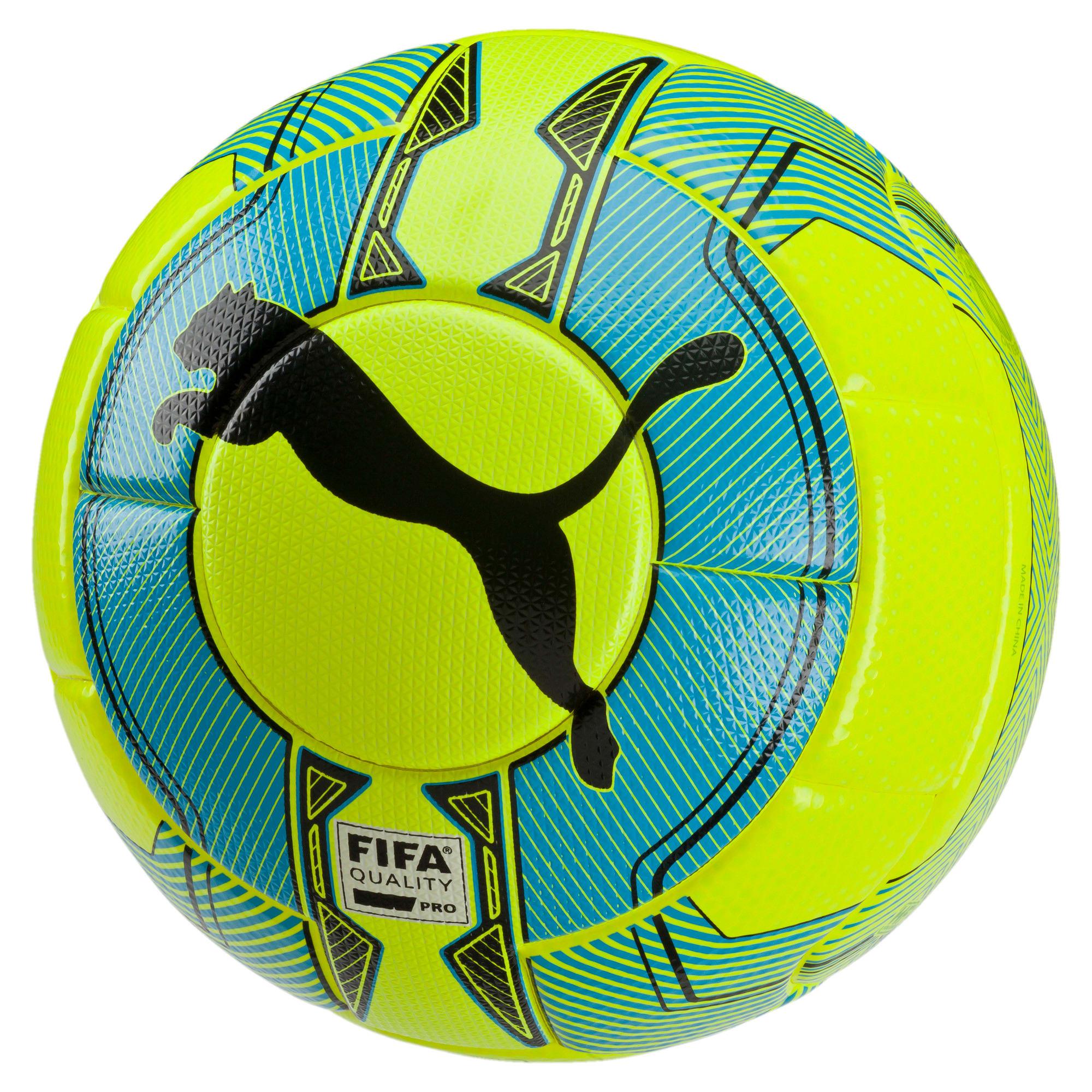 Thumbnail 1 of evoPOWER Vigor 1.3 Statement Football, yellow-atomic blue-black, medium-IND