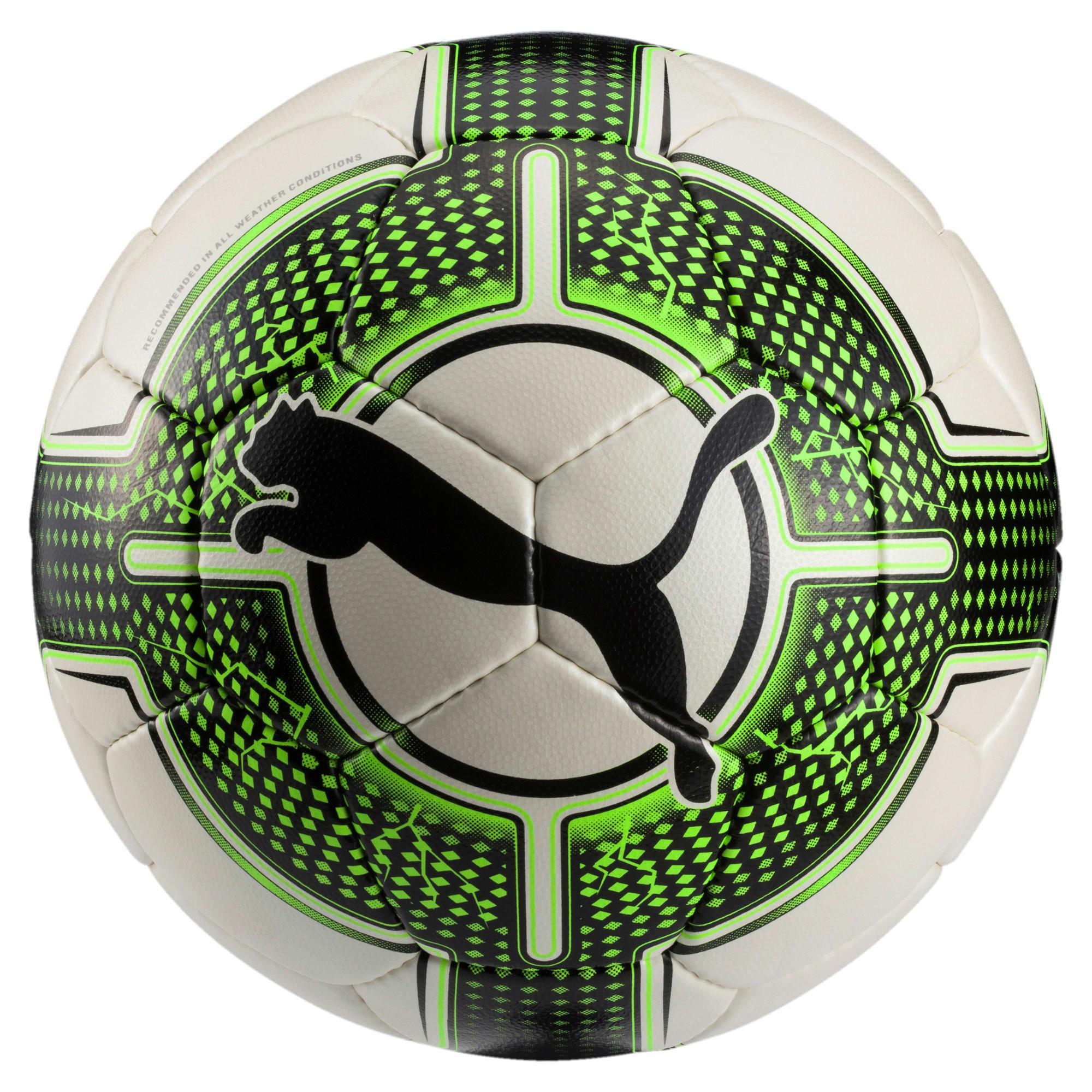 Thumbnail 1 of evoPOWER 4.3 Club Football, White-Green Gecko-Black, medium-IND