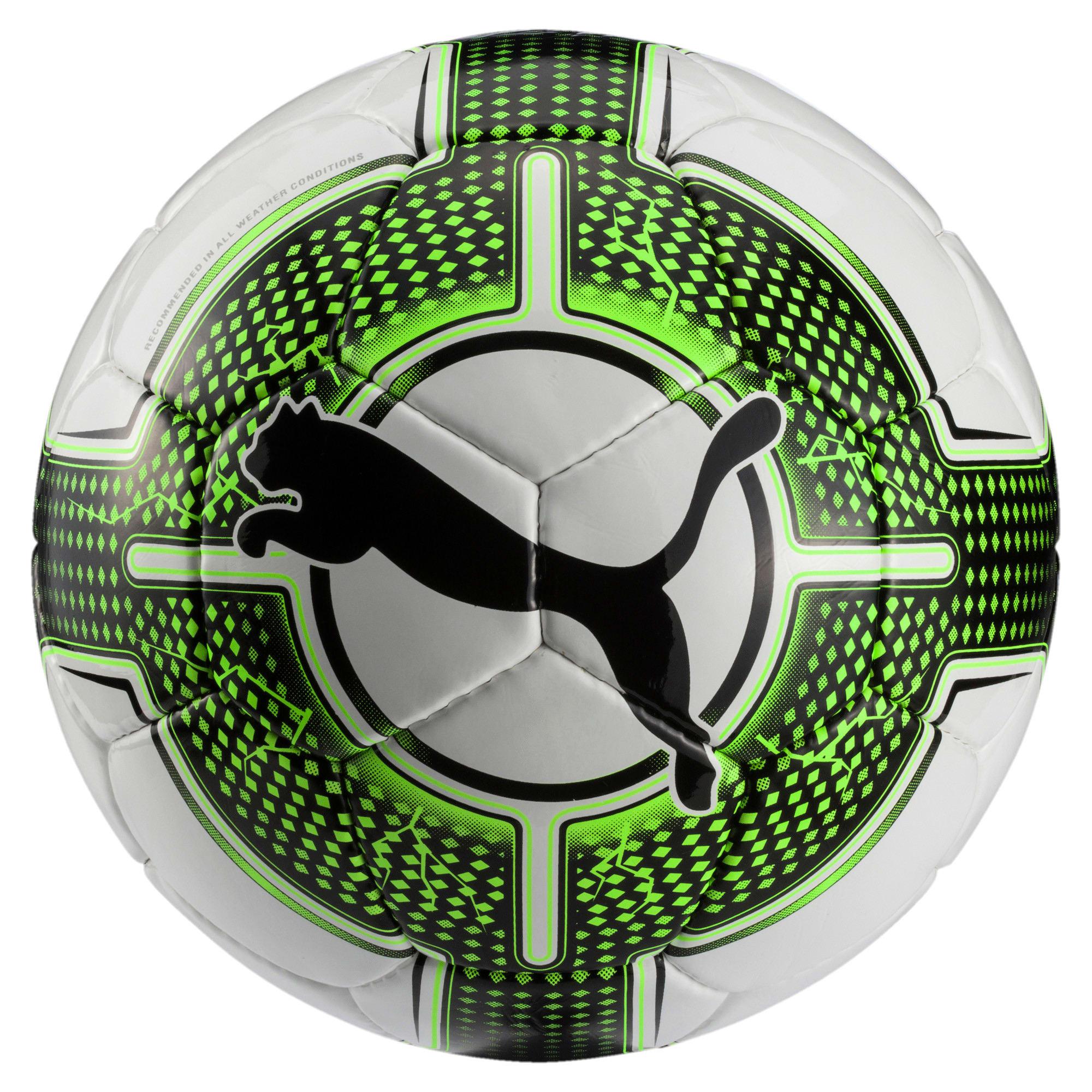 Thumbnail 1 of evoPOWER 5.3 Trainer Football, White-Green Gecko-Black, medium-IND