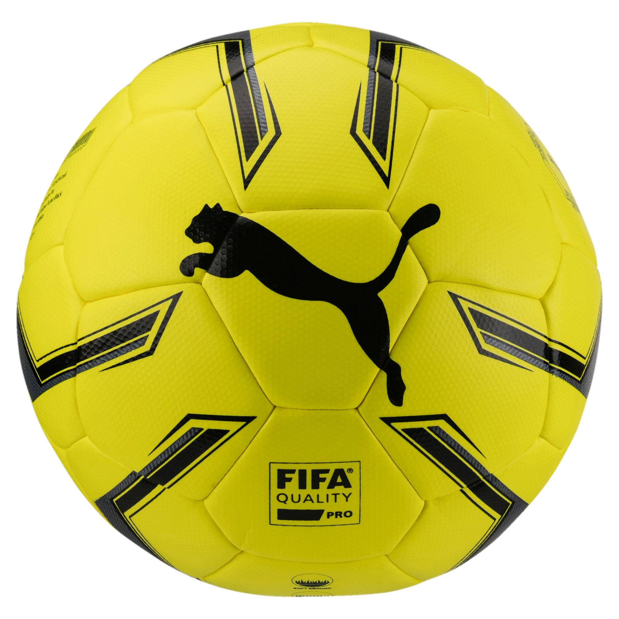Thumbnail 1 of ELITE 1.2 FUSION Pro Soccer Ball, Fluo Yellow-Black-White, medium