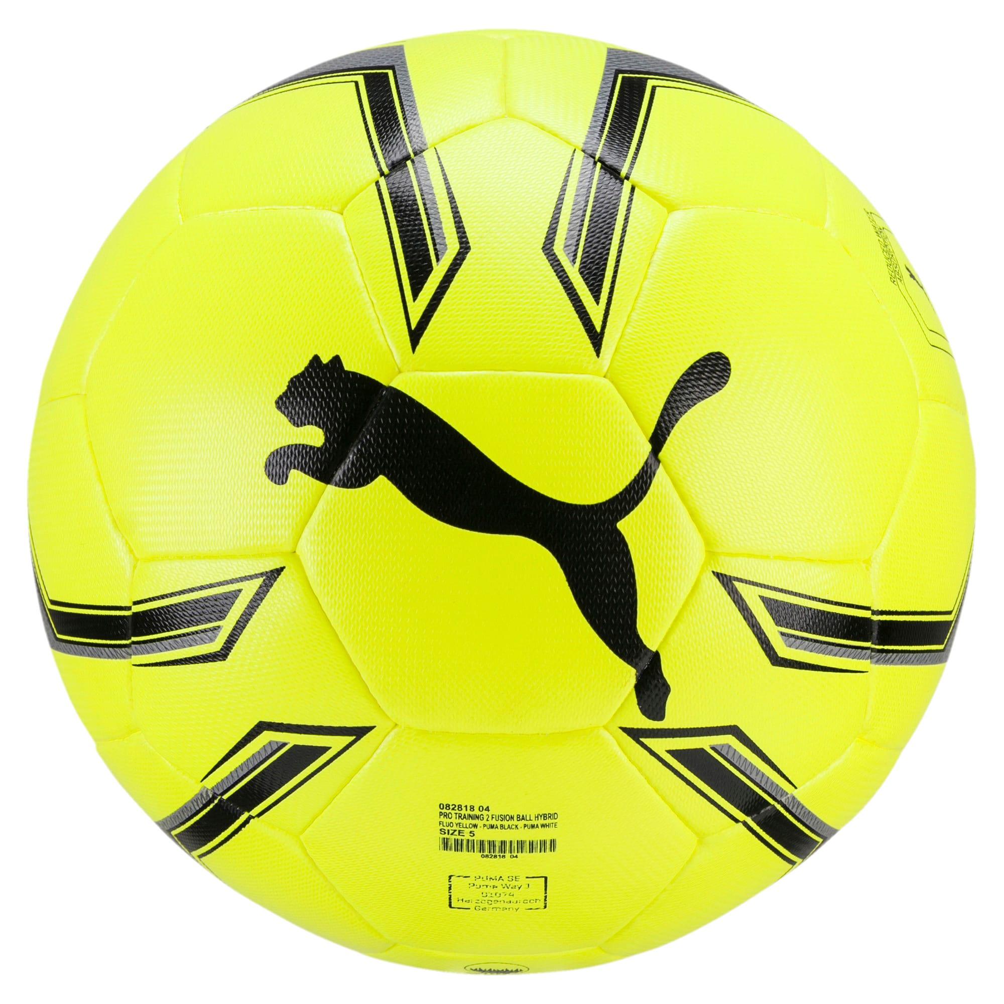 Thumbnail 1 of Pro Training 2 HYBRID Soccer Ball, Fluo Yellow-Black-White, medium