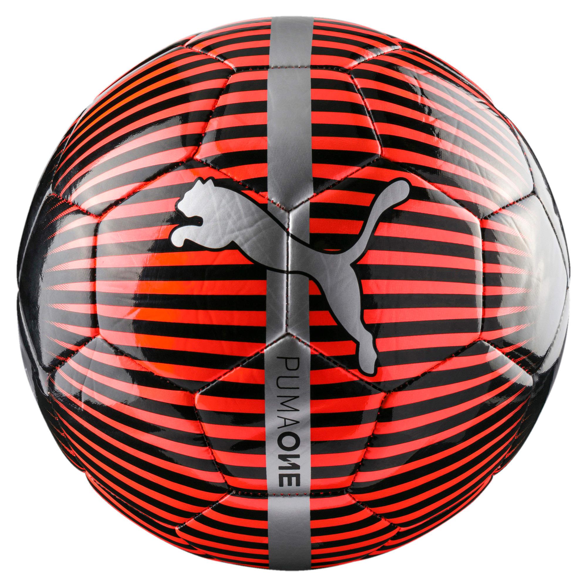 Thumbnail 1 of ONE Chrome Football, Red Blast-Puma Black-Silver, medium-IND