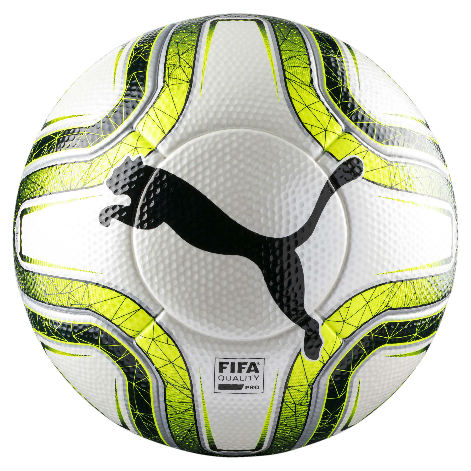 Thumbnail 1 of FINAL 1 Statement FIFA Q Pro Match Soccer, White-Lemon Tonic-Black, medium