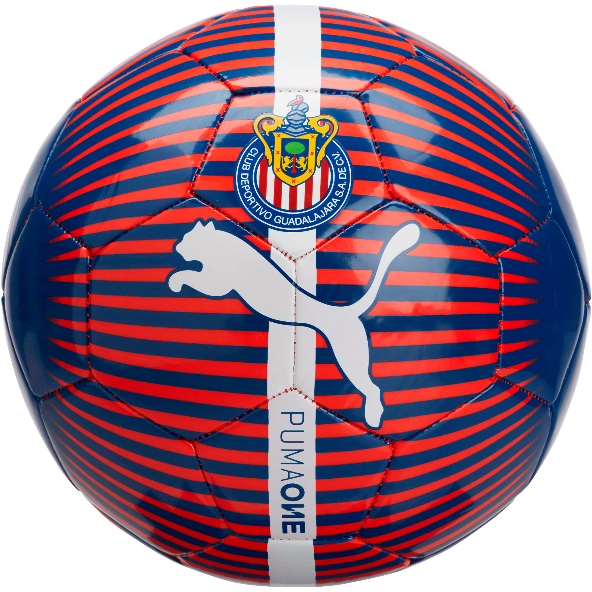 Thumbnail 1 of Chivas Puma ONE ball, New Navy-Puma Red-White, medium