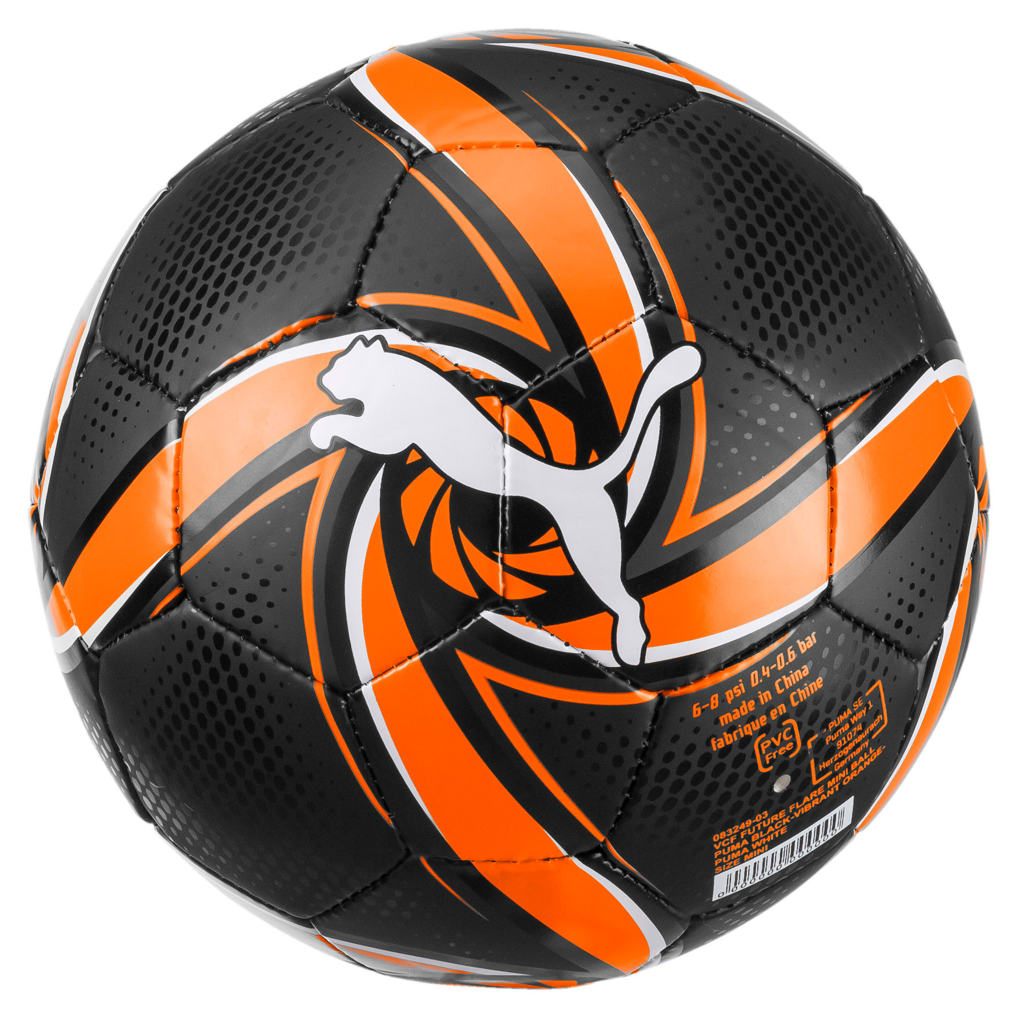 Thumbnail 1 of Valencia CF FUTURE Flare Mini Training Ball, Puma Black-Vibrant Orange, medium