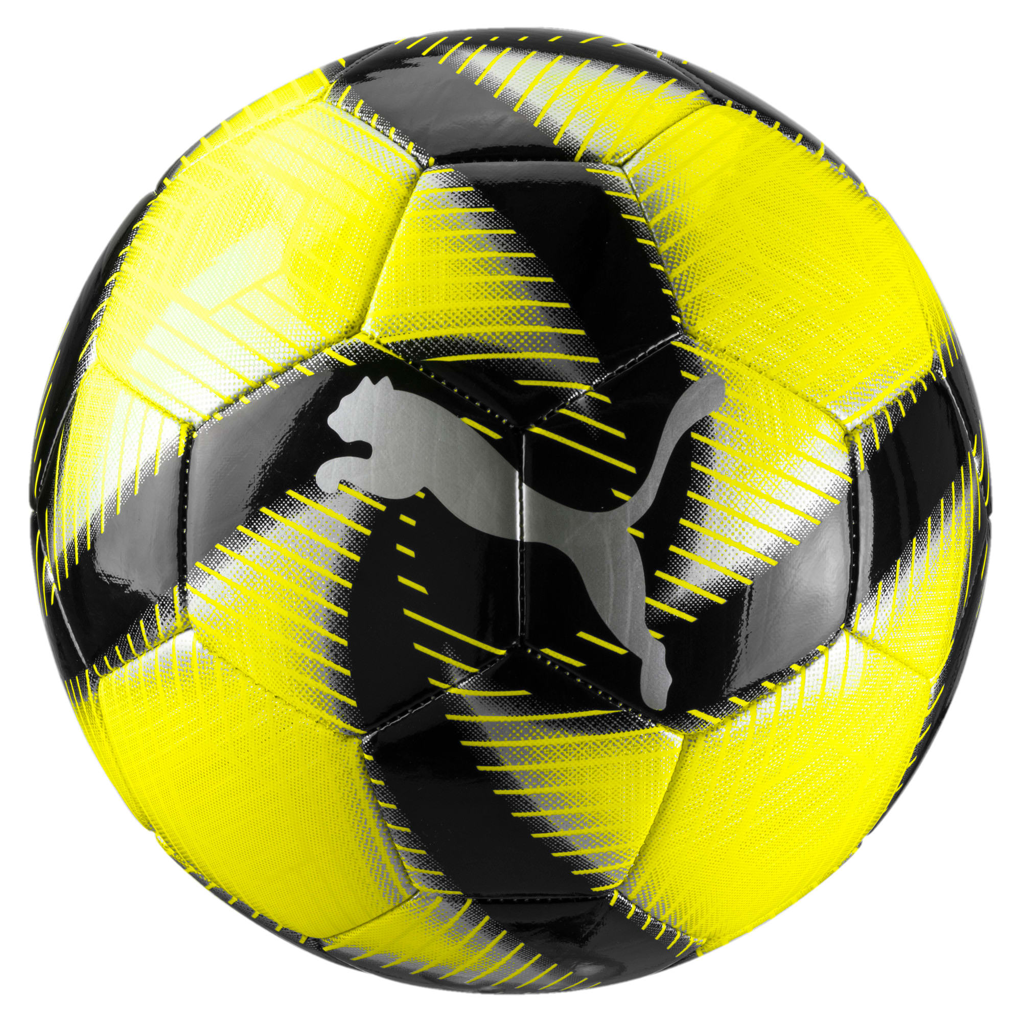 Thumbnail 1 of FUTURE Flare Soccer Ball, Yellow Alert-Black-White, medium