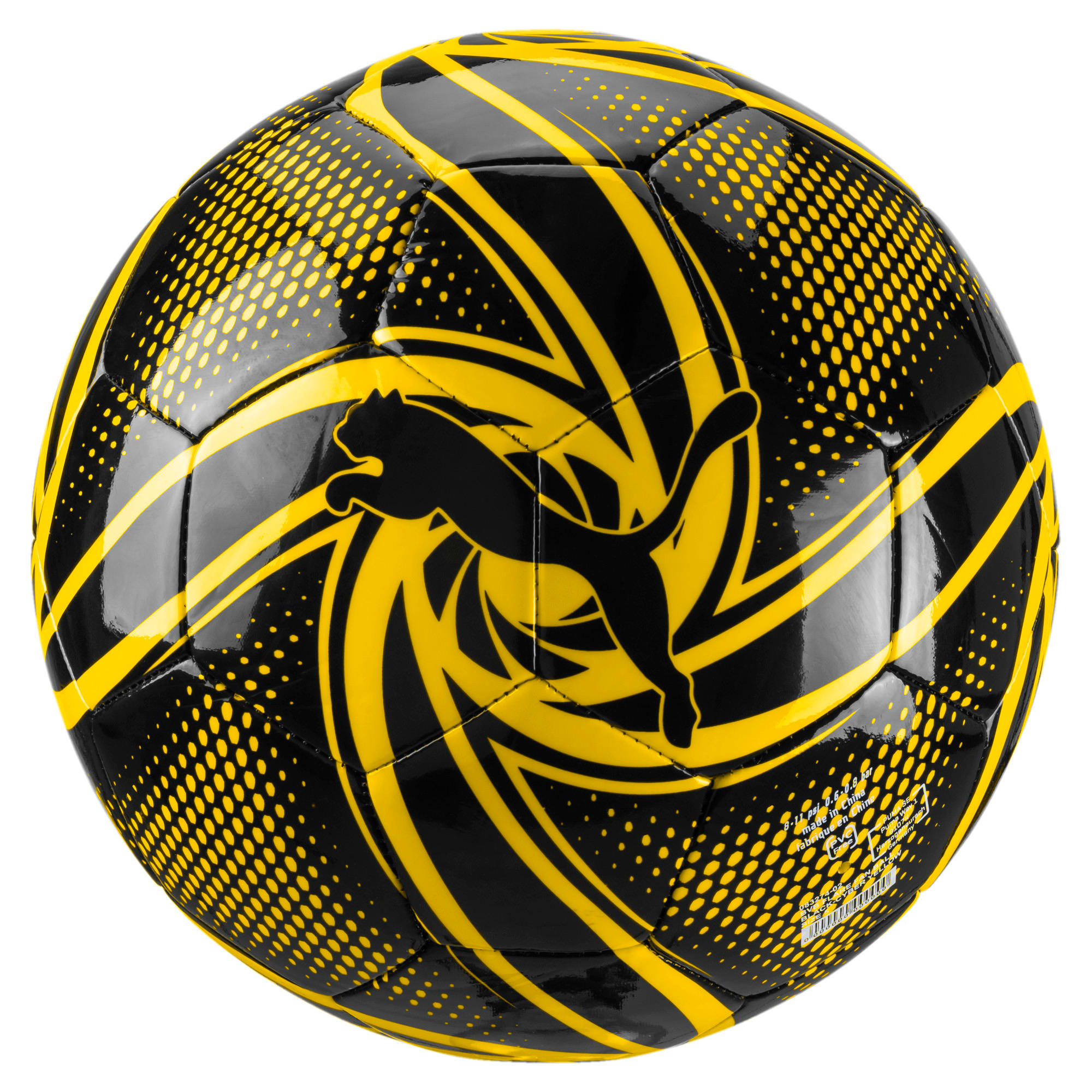 Thumbnail 1 of BVB FUTURE Flare Fan Ball, Puma Black-Cyber Yellow, medium