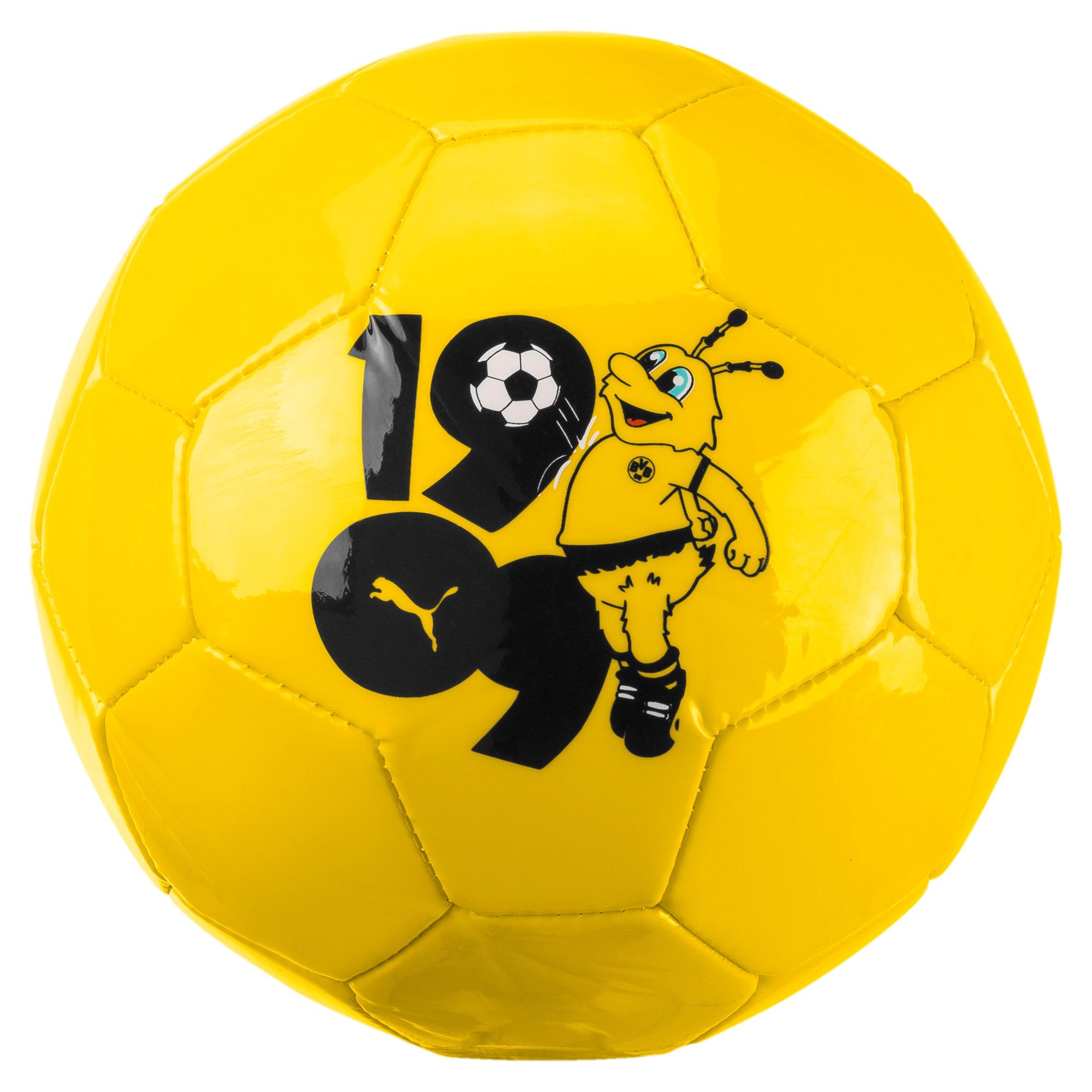 Thumbnail 1 of BVB Kids' Graphic Mini Ball, Cyber Yellow-Puma Black, medium