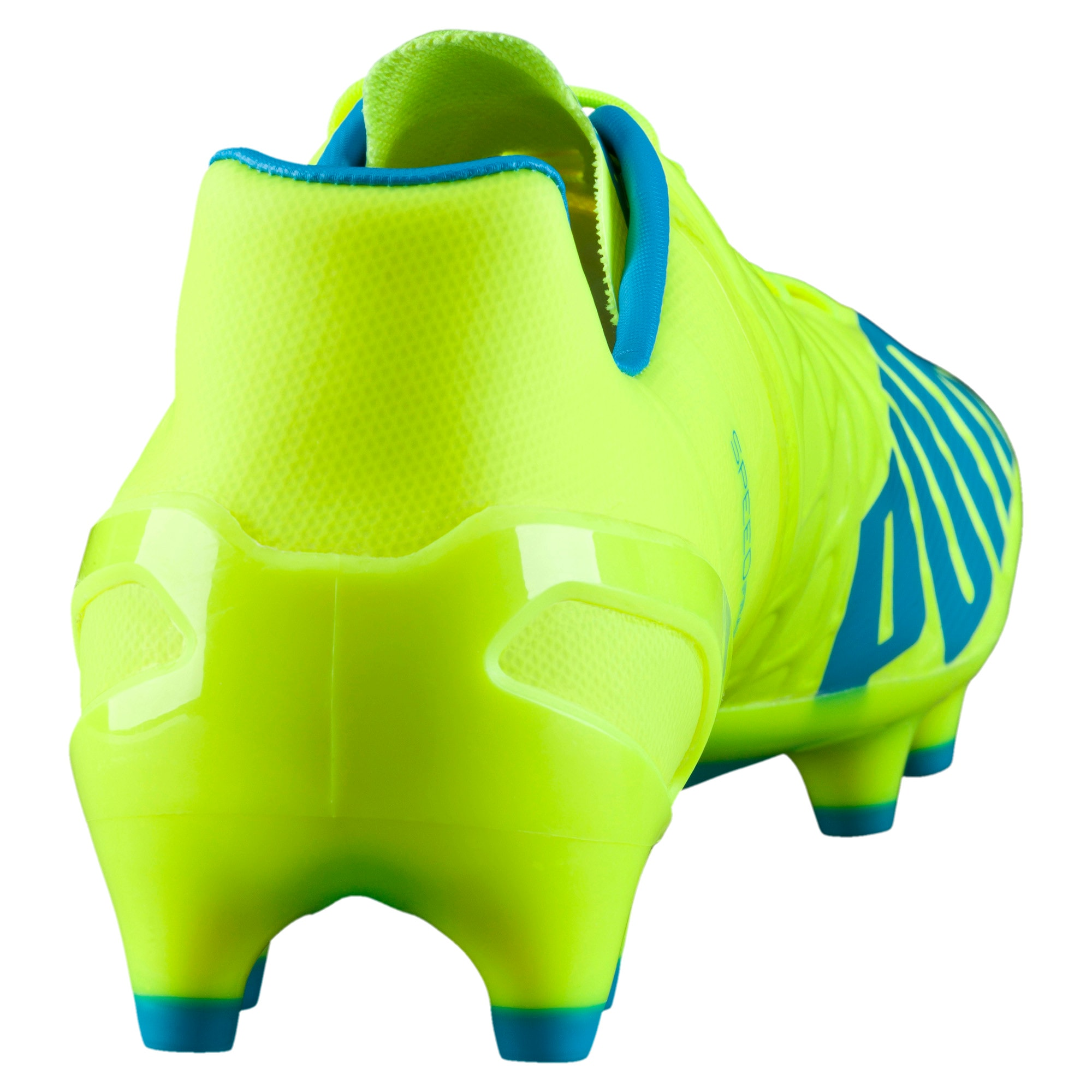 Thumbnail 3 of evoSPEED 1.4 FG Football Boots, yellow-blue-white, medium-IND