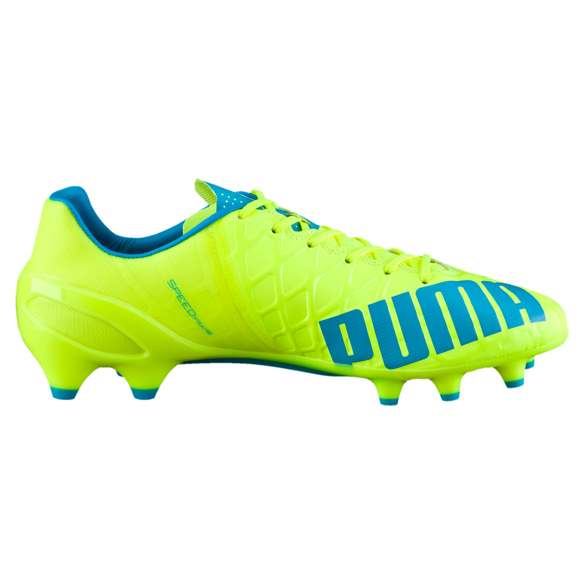 Thumbnail 4 of evoSPEED 1.4 FG Football Boots, yellow-blue-white, medium-IND