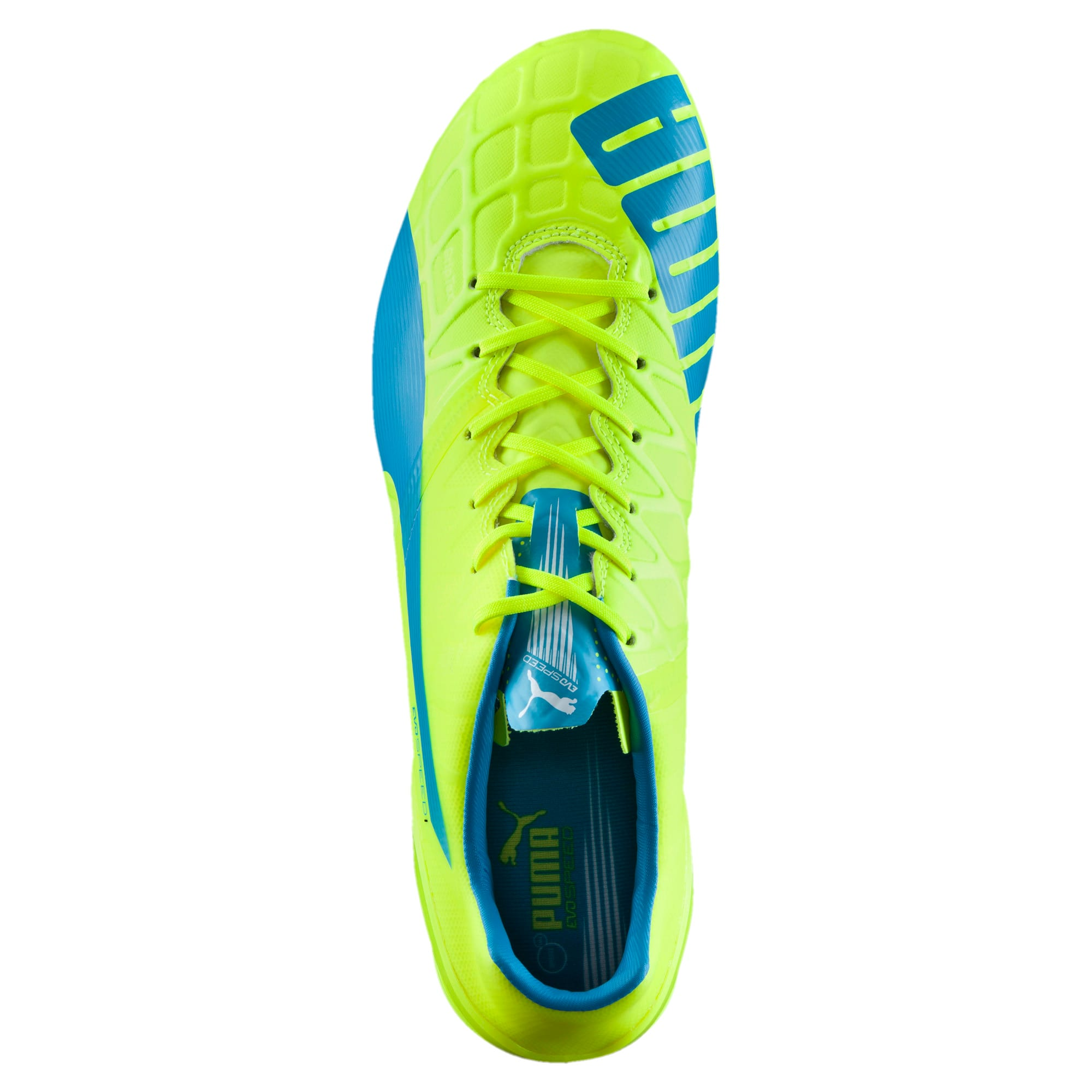 Thumbnail 5 of evoSPEED 1.4 FG Football Boots, yellow-blue-white, medium-IND