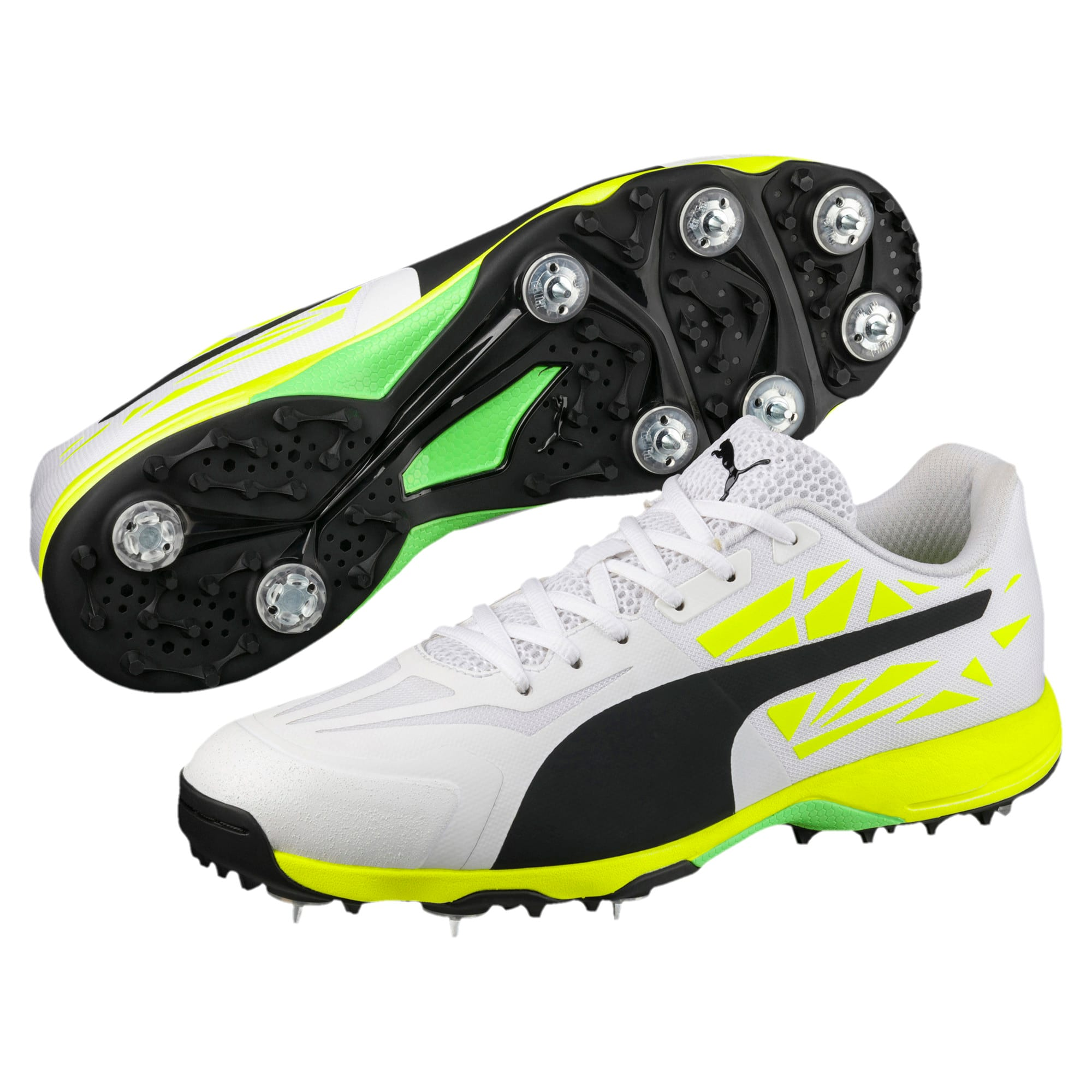 Thumbnail 2 of evoSPEED Spike 1.5 Men's Cricket Boots, white-black-yellow, medium-IND