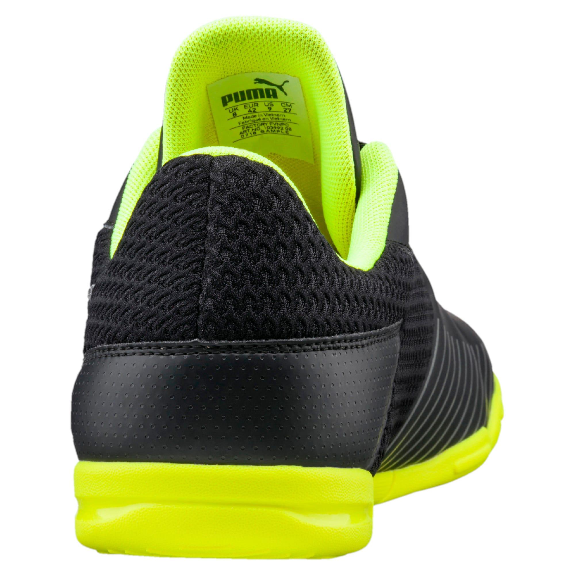 Thumbnail 3 of 365 CT Men's Court Football Shoes, Black-Black-Yellow-White, medium-IND