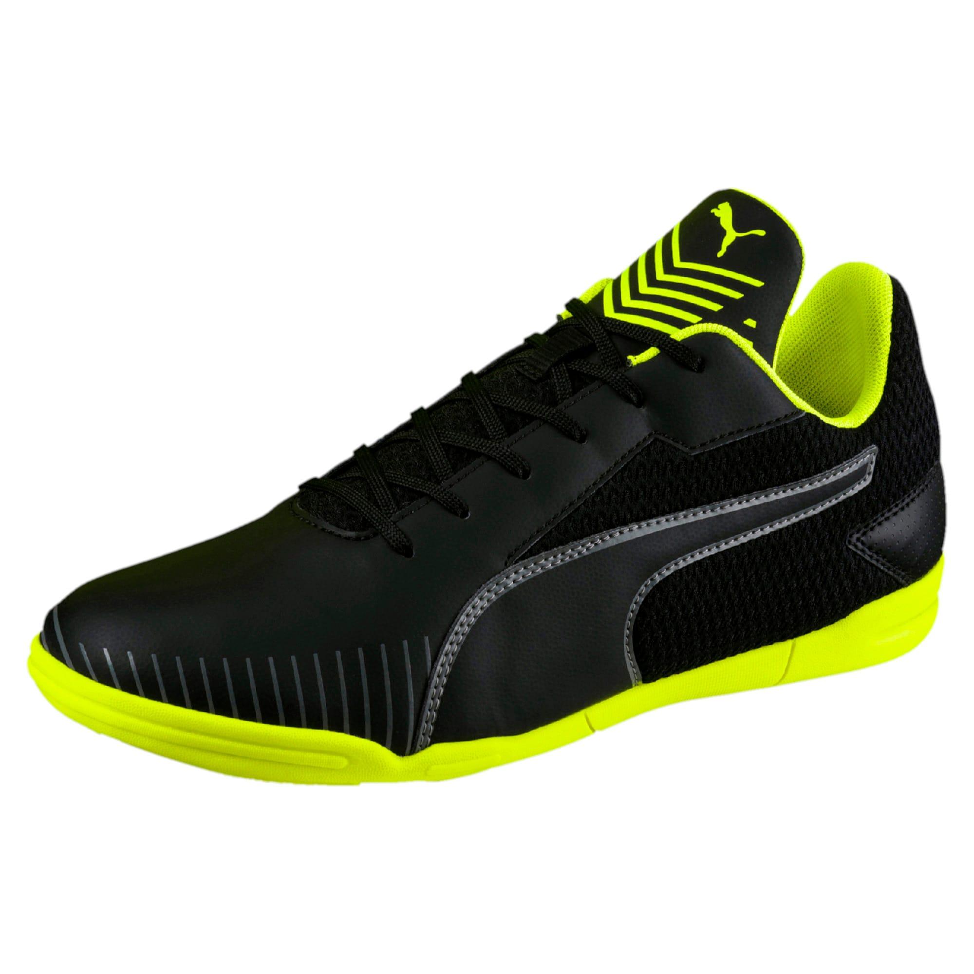 Thumbnail 1 of 365 CT Men's Court Football Shoes, Black-Black-Yellow-White, medium-IND