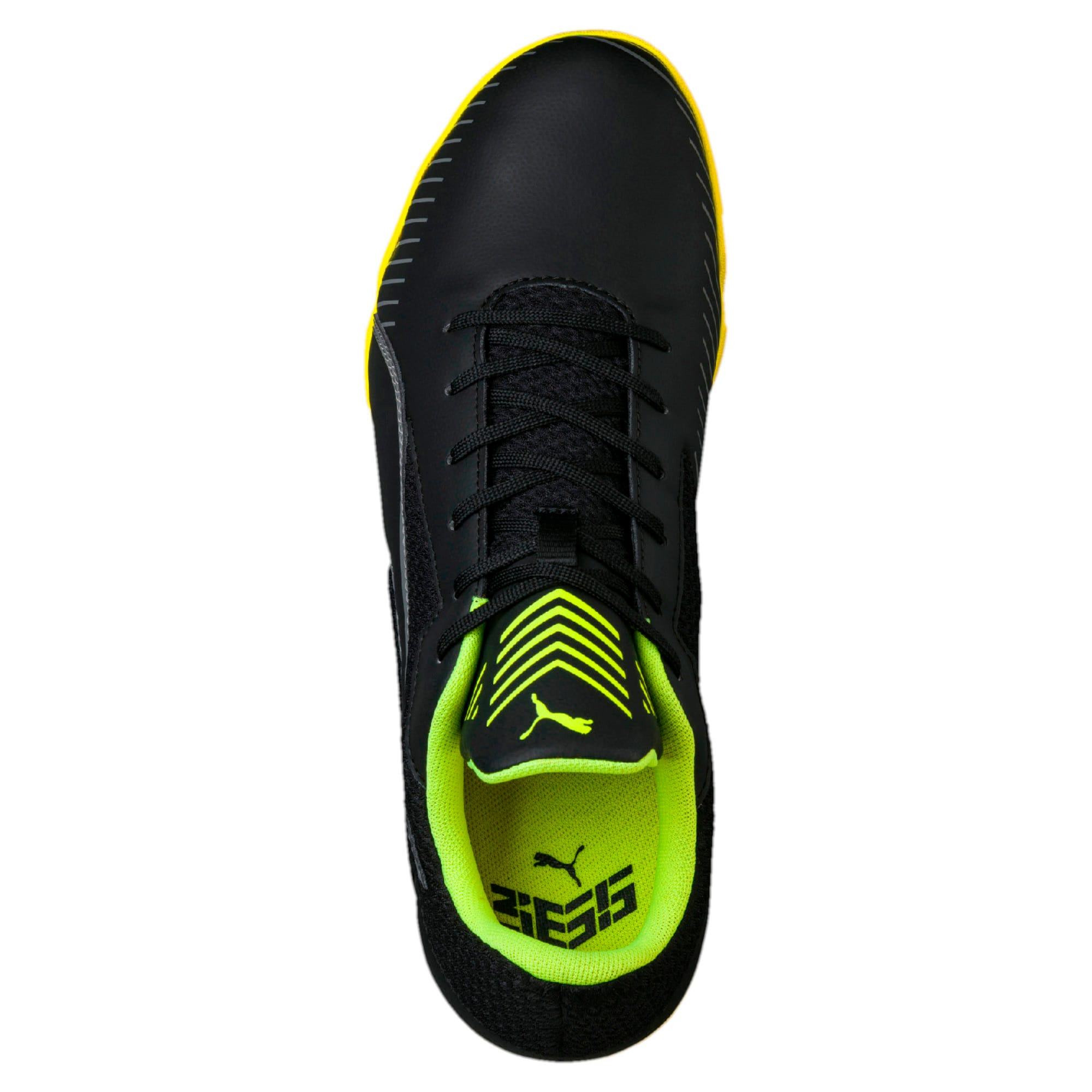 Thumbnail 4 of 365 CT Men's Court Football Shoes, Black-Black-Yellow-White, medium-IND