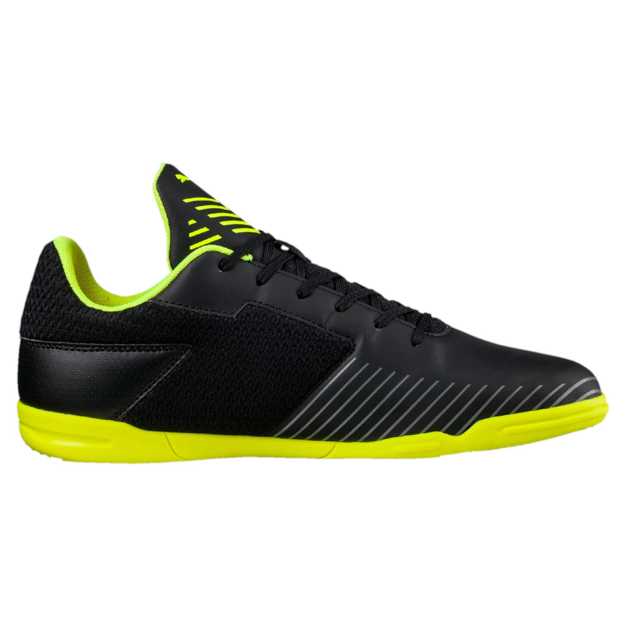 Thumbnail 5 of 365 CT Men's Court Football Shoes, Black-Black-Yellow-White, medium-IND