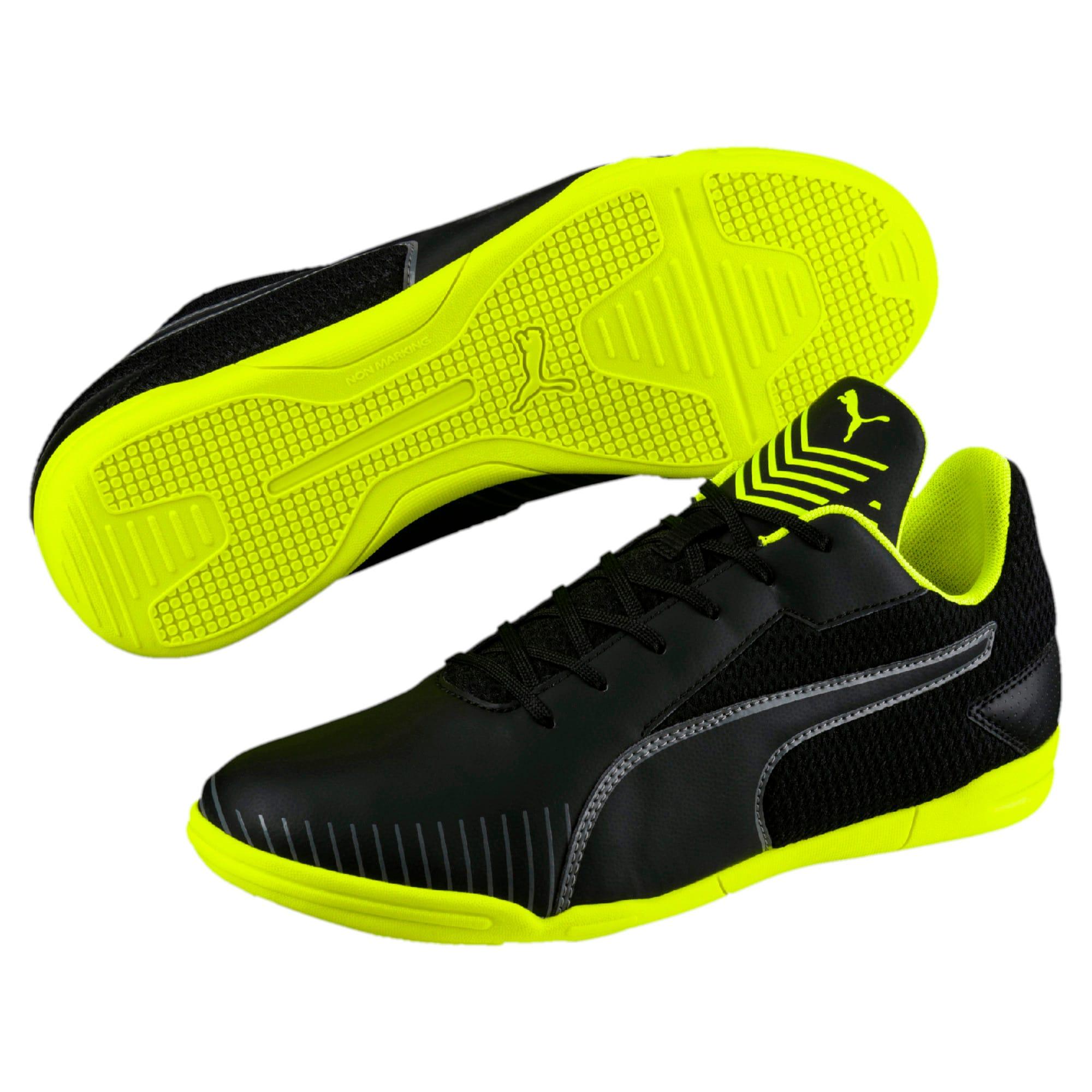 Thumbnail 6 of 365 CT Men's Court Football Shoes, Black-Black-Yellow-White, medium-IND