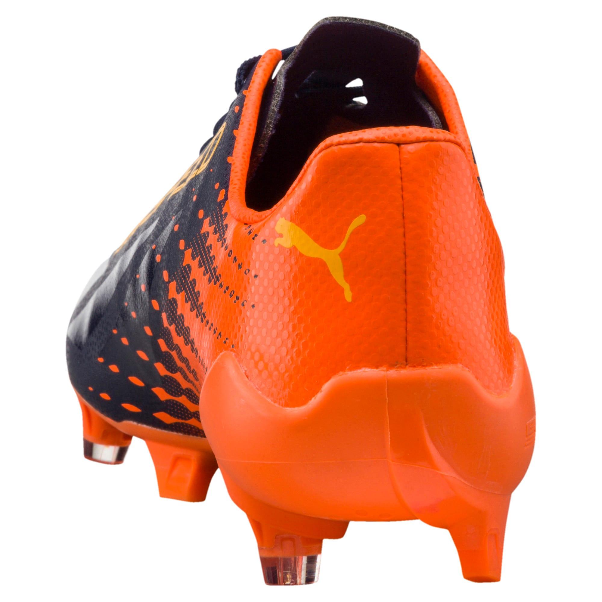 Thumbnail 4 of evoSPEED 17 SL-S FG Men's Football Boots, YELLOW-Peacoat-Orange, medium-IND