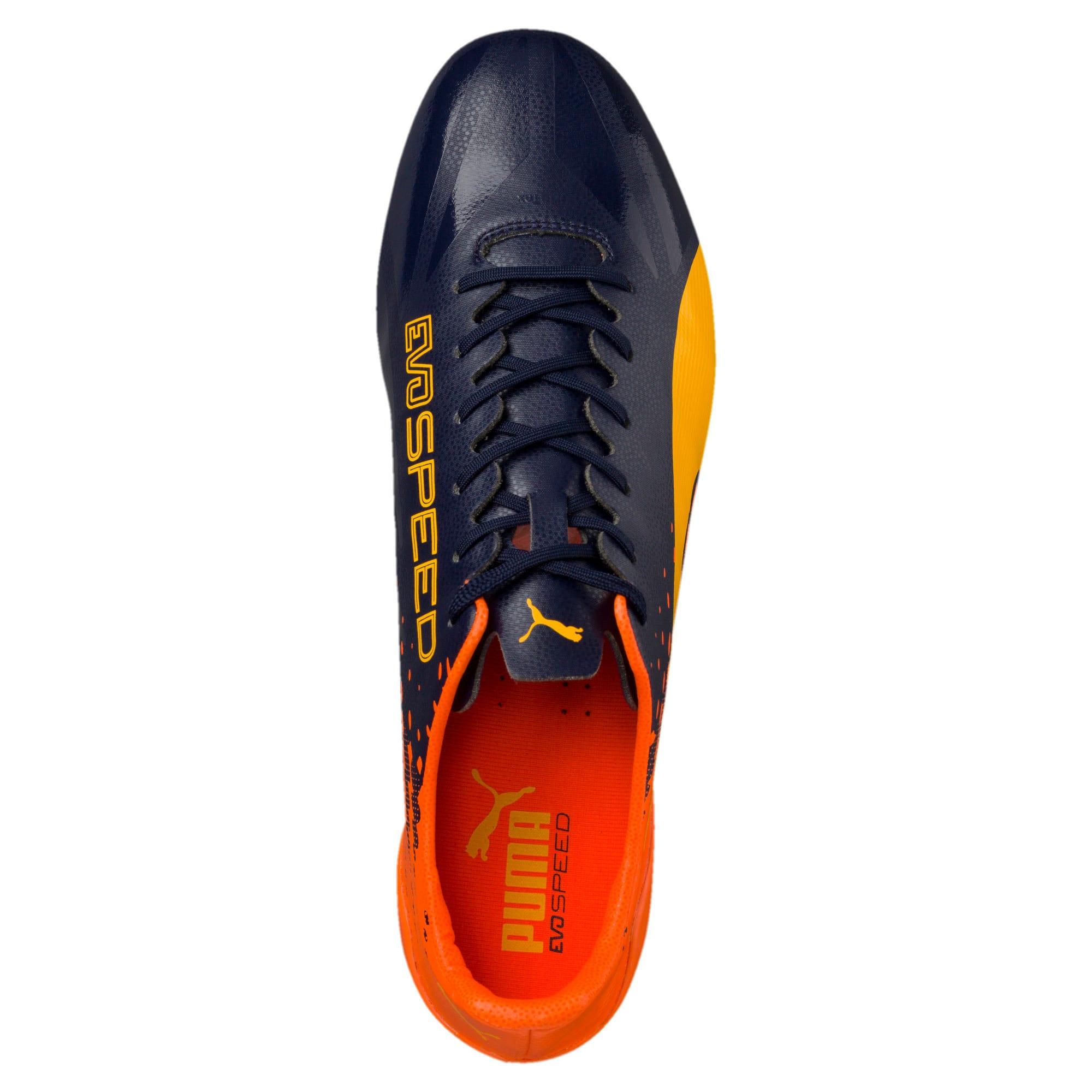 Thumbnail 6 of evoSPEED 17 SL-S FG Men's Football Boots, YELLOW-Peacoat-Orange, medium-IND