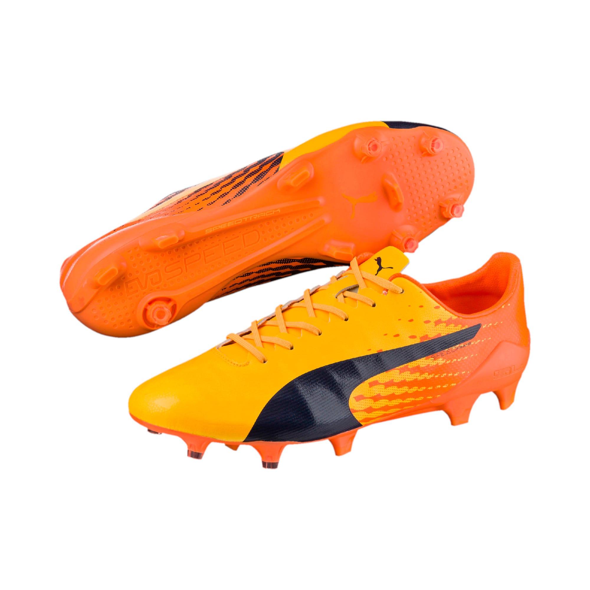 Thumbnail 7 of evoSPEED 17 SL-S FG Men's Football Boots, YELLOW-Peacoat-Orange, medium-IND