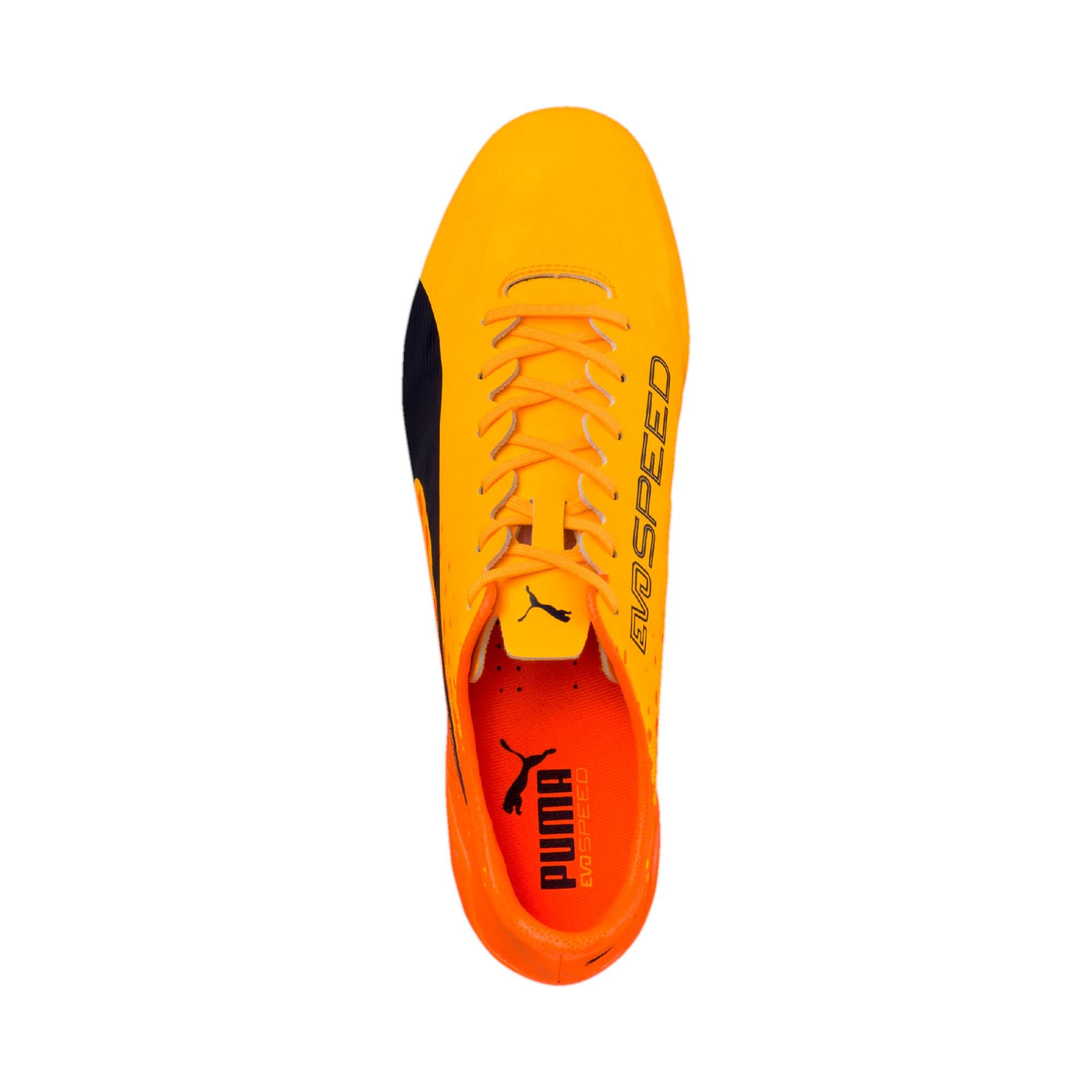 Thumbnail 10 of evoSPEED 17 SL-S FG Men's Football Boots, YELLOW-Peacoat-Orange, medium-IND