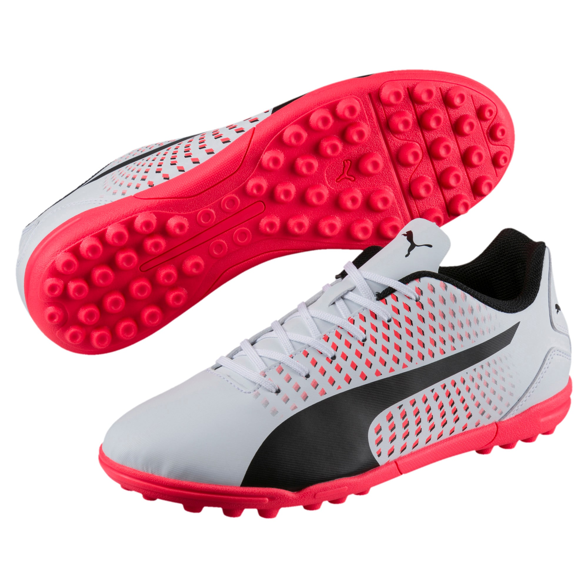 Thumbnail 2 of Adreno III TT Men's Football Boots, White-Black-Coral, medium-IND