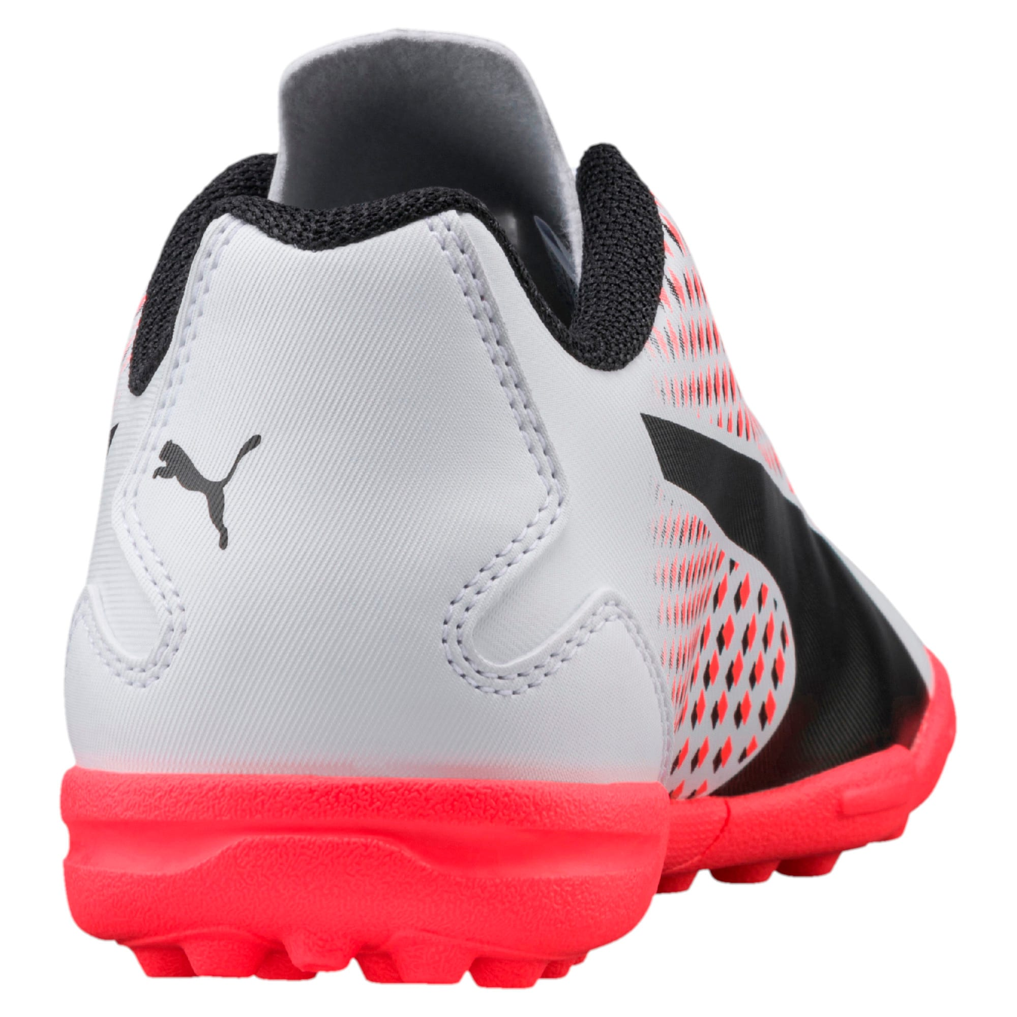 Thumbnail 3 of Adreno III TT Kids' Football Boots, White-Black-Coral, medium-IND