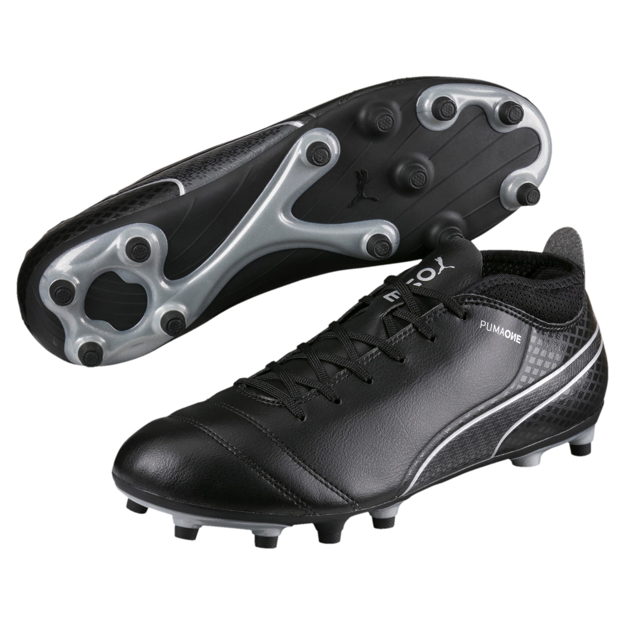 Thumbnail 2 of ONE 17.4 FG Men's Football Boots, Black-Black-Silver, medium-IND