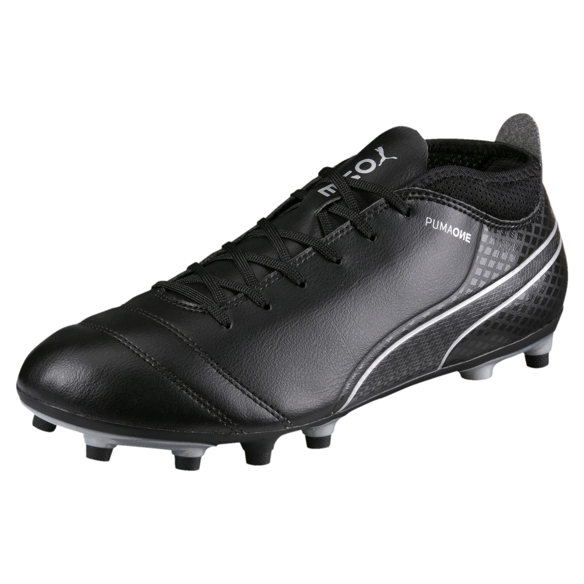 Thumbnail 1 of ONE 17.4 FG Men's Football Boots, Black-Black-Silver, medium-IND