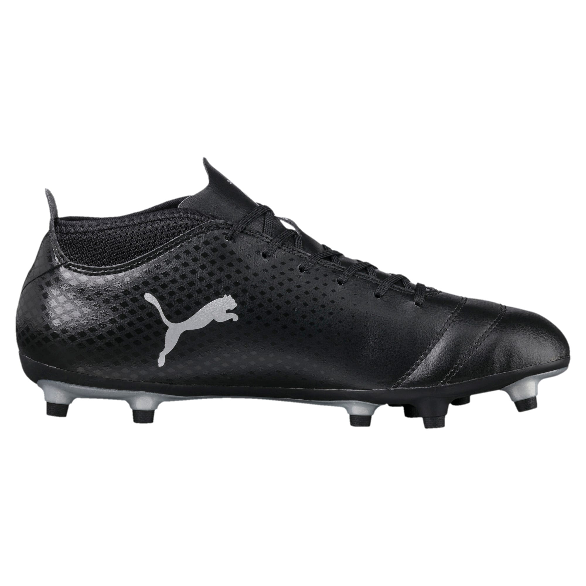 Thumbnail 4 of ONE 17.4 FG Men's Football Boots, Black-Black-Silver, medium-IND